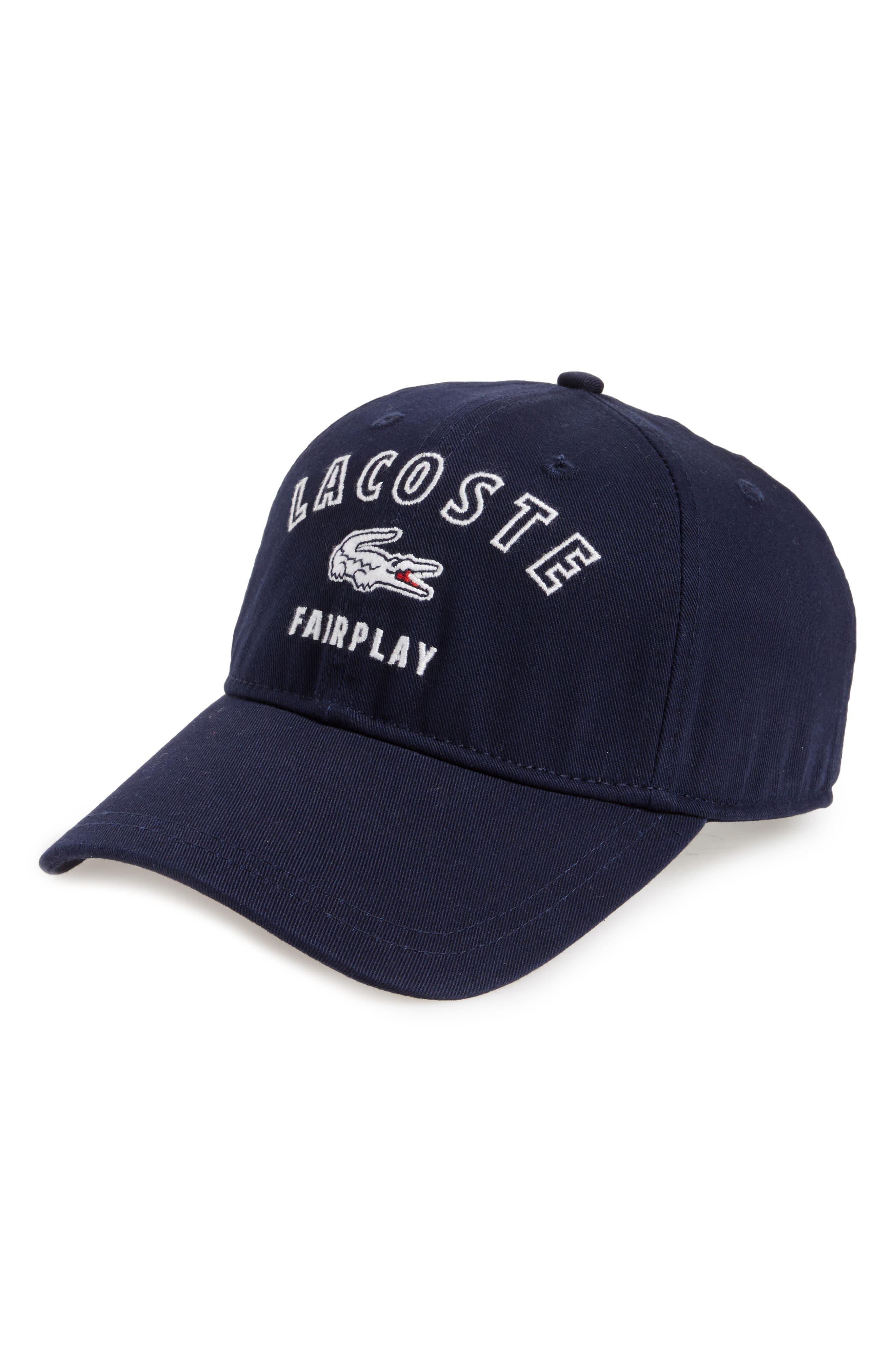 Main Image - Lacoste Fairplay Gabardine Ball Cap