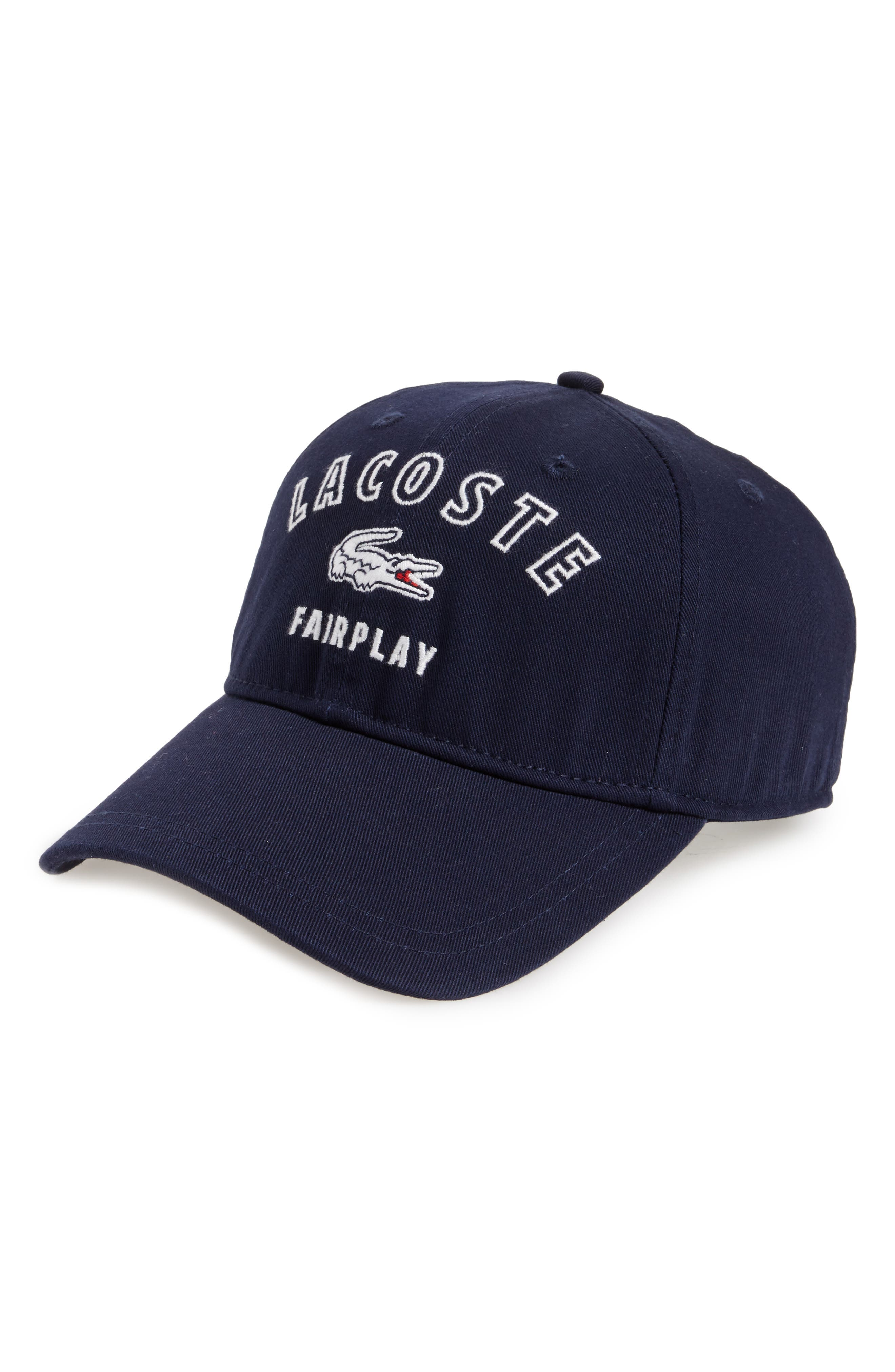 Lacoste Fairplay Gabardine Ball Cap