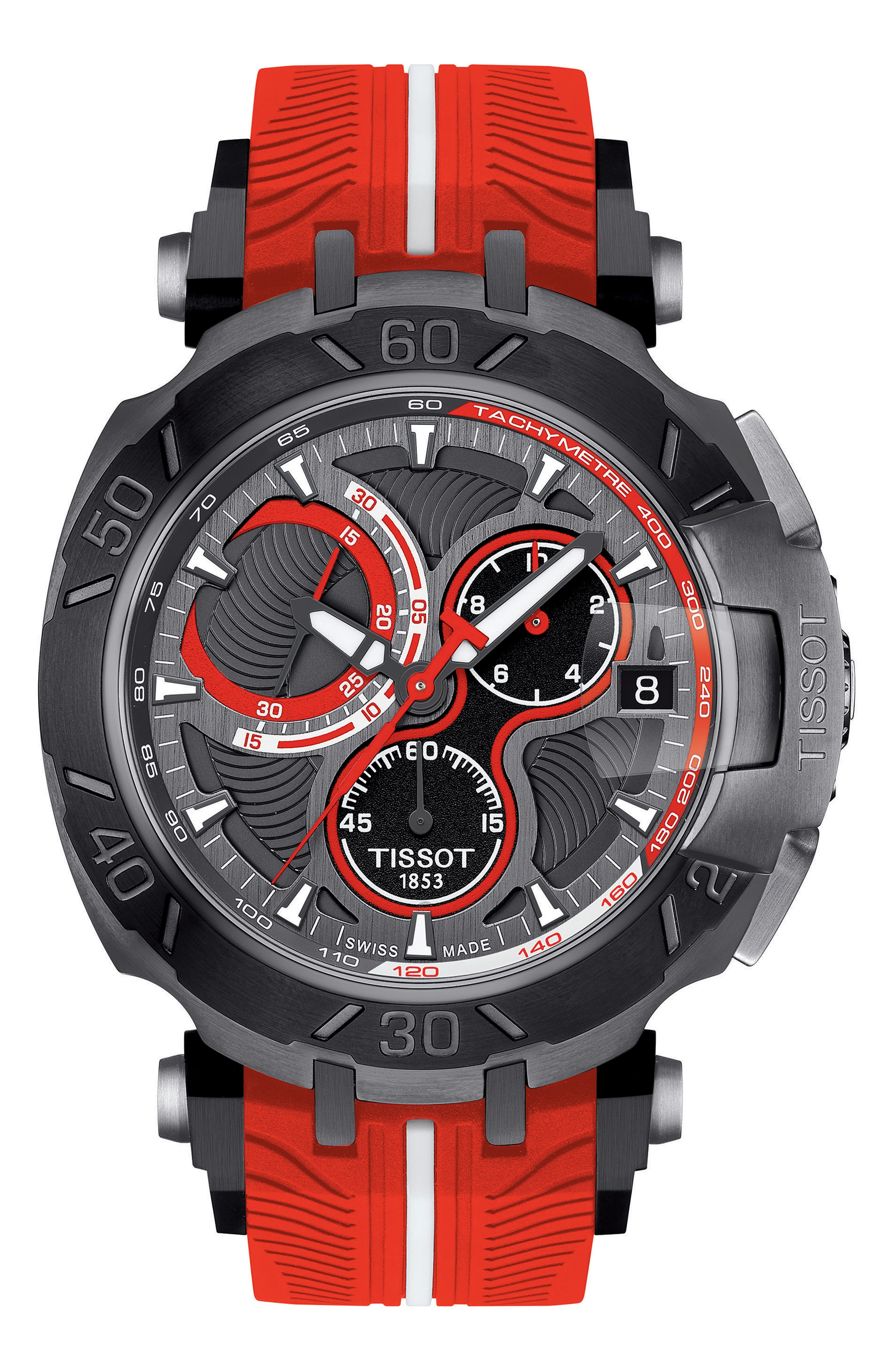 Tissot T-Race MotoGP Silicone Strap Watch, 39mm x 41mm