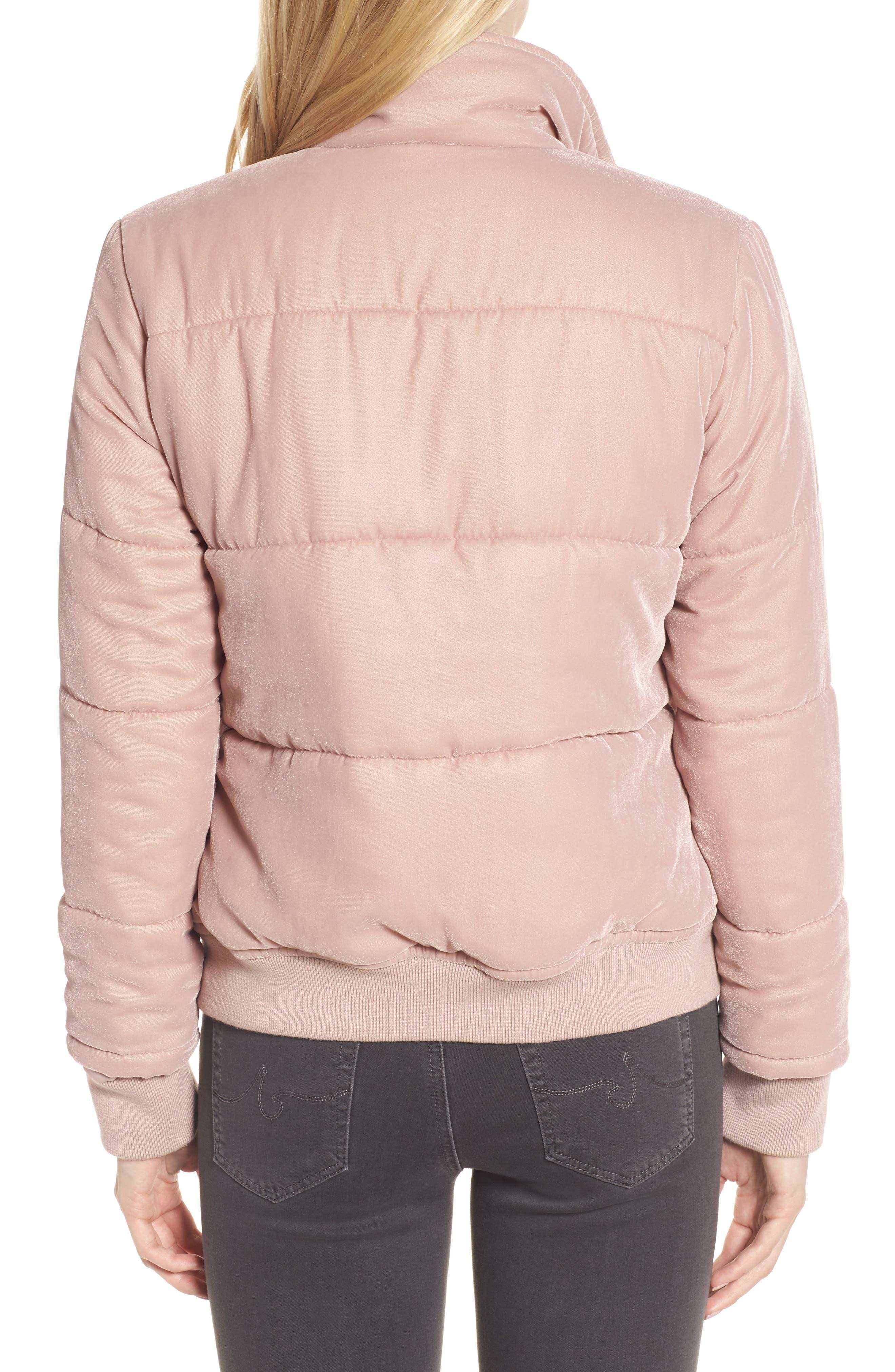 Quilted Velvet Jacket,                             Alternate thumbnail 2, color,                             Pink Adobe