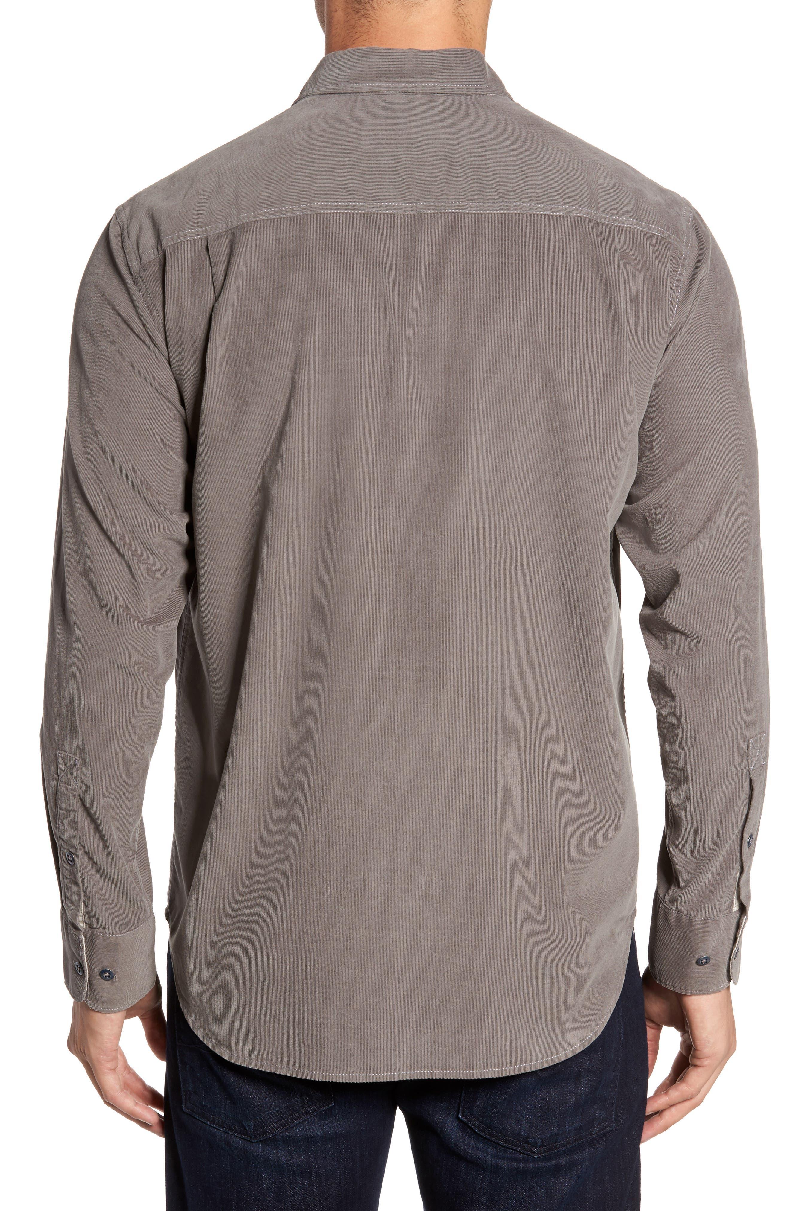 Harrison Cord Standard Fit Shirt,                             Alternate thumbnail 2, color,                             Pebble Grey
