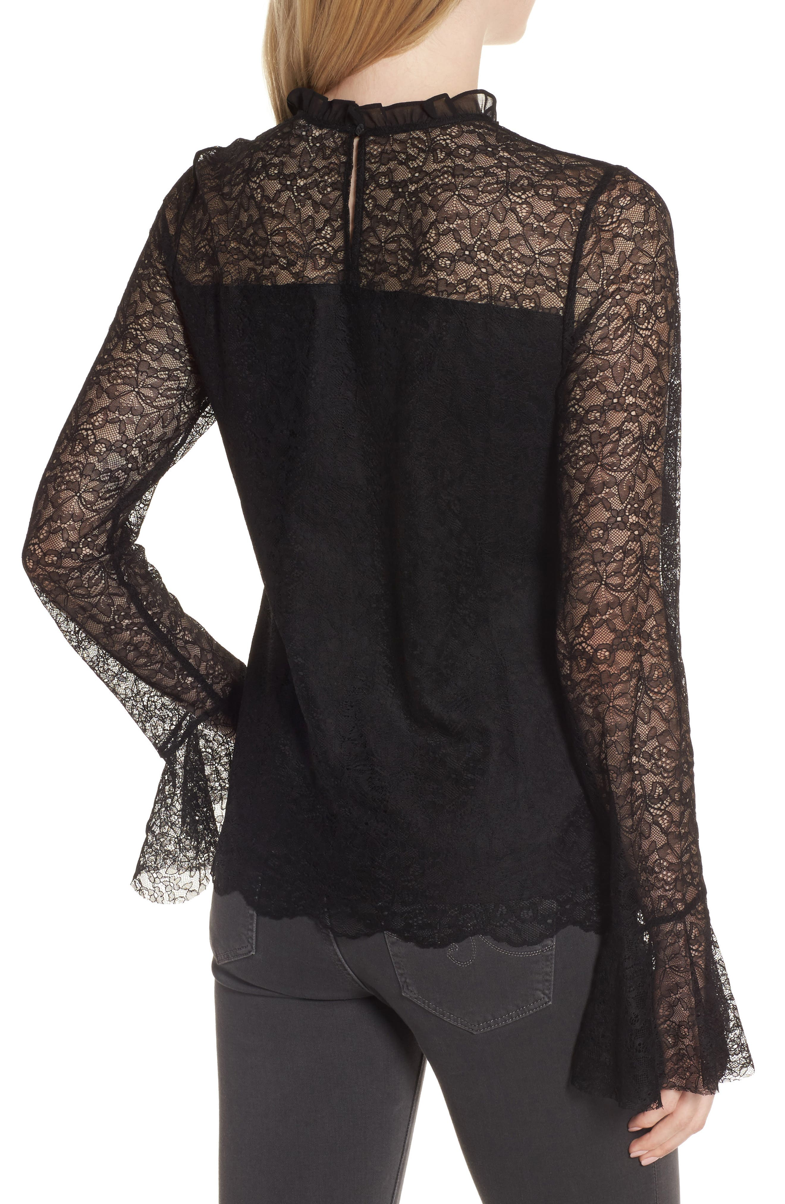 Alternate Image 3  - Chelsea28 Ruffle Lace Top