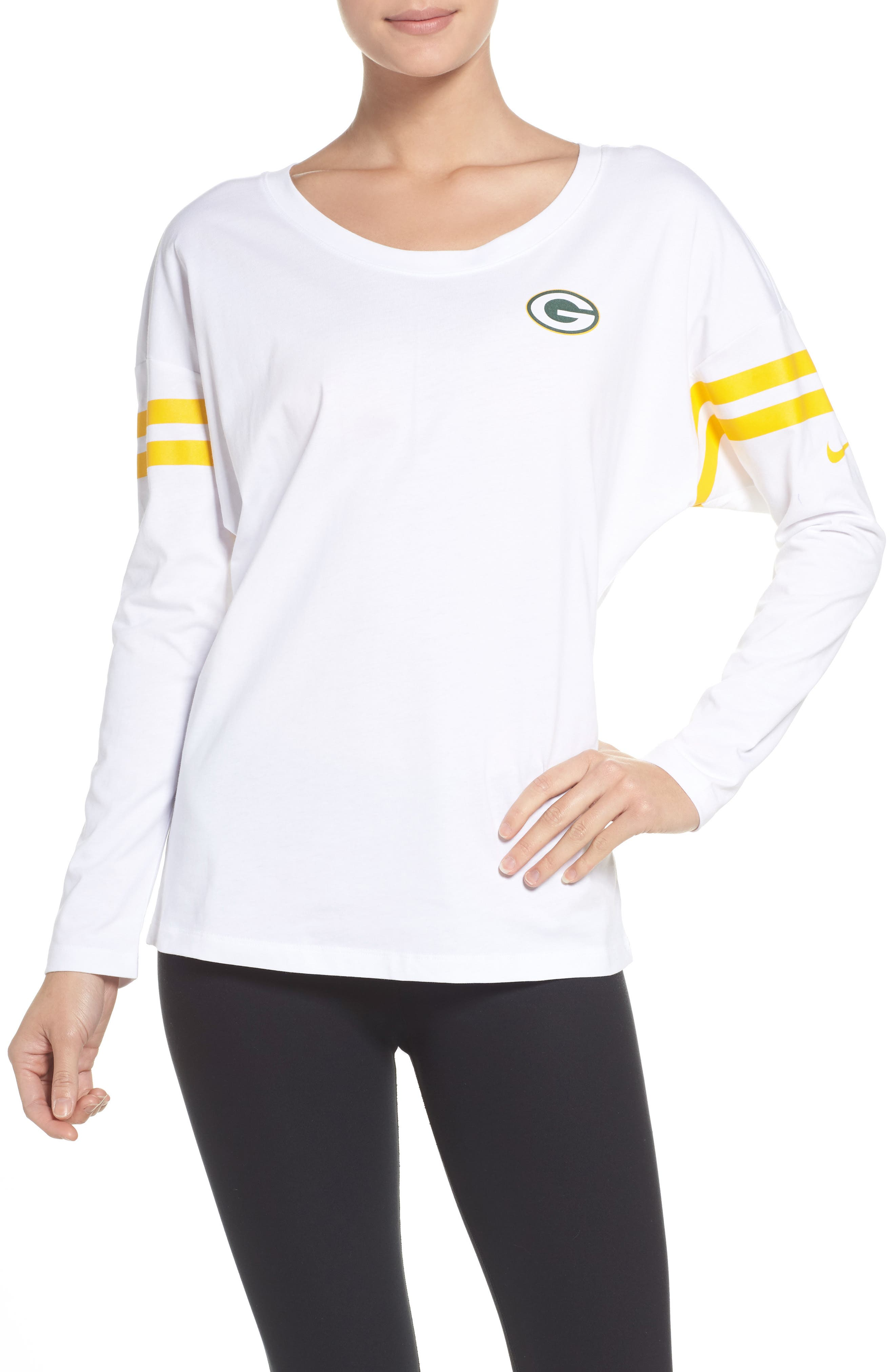 NFL Tailgate Tee,                             Main thumbnail 1, color,                             White/ Green Bay