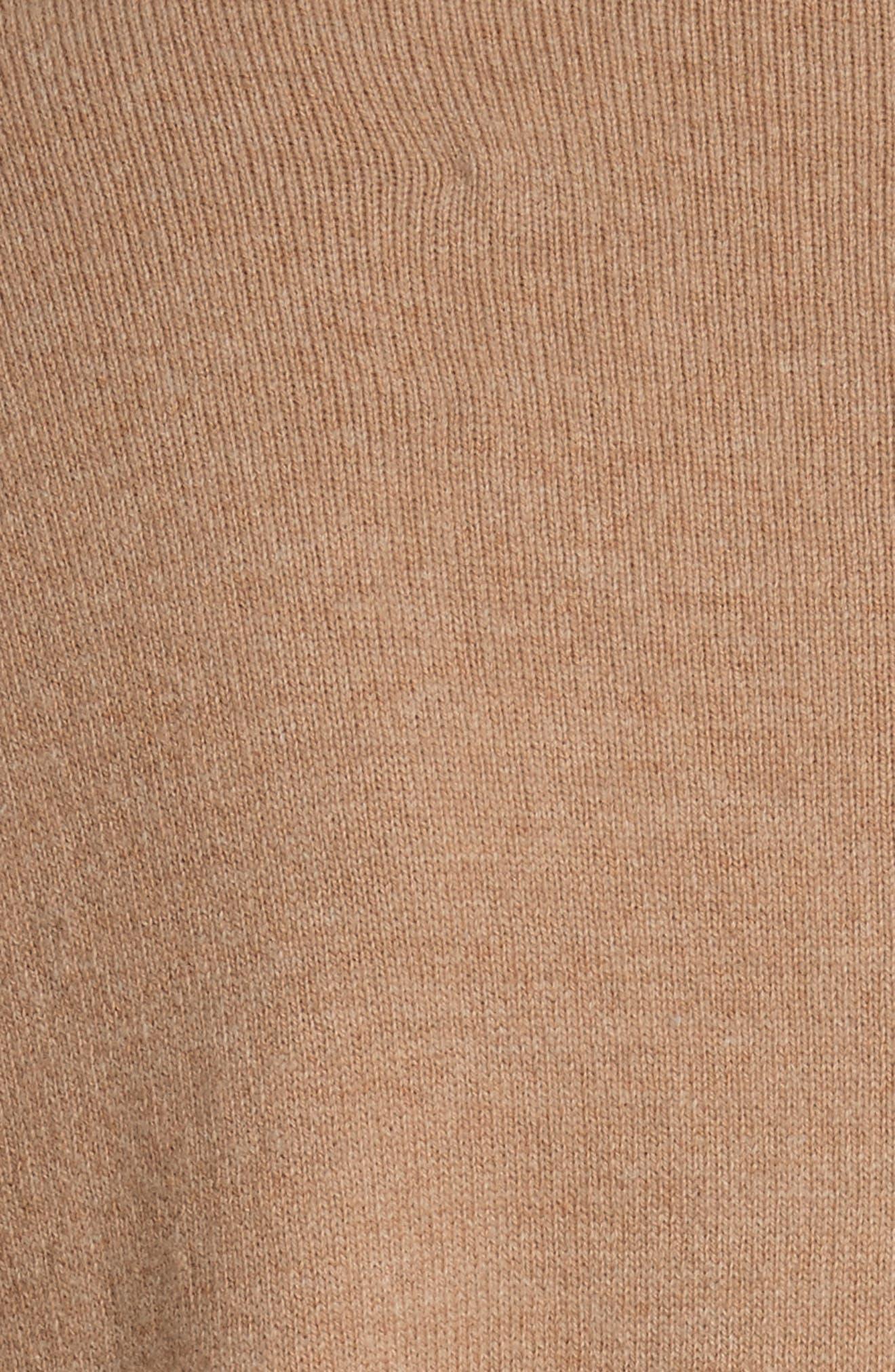 Piota Wool Blend Knit Trench Coat,                             Alternate thumbnail 6, color,                             Camel