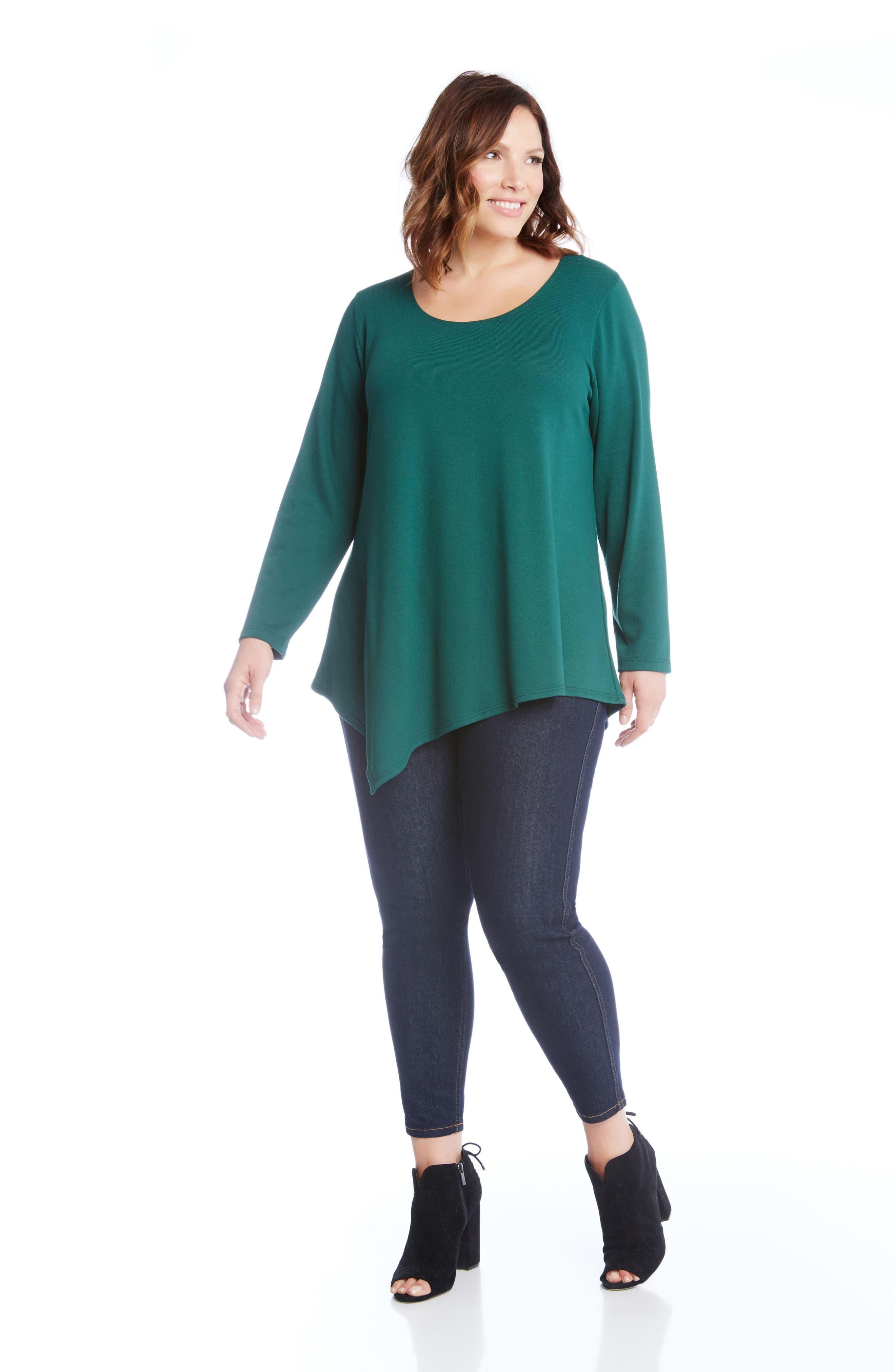 Alternate Image 2  - Karen Kane Asymmetrical Hem Sweater (Plus Size)