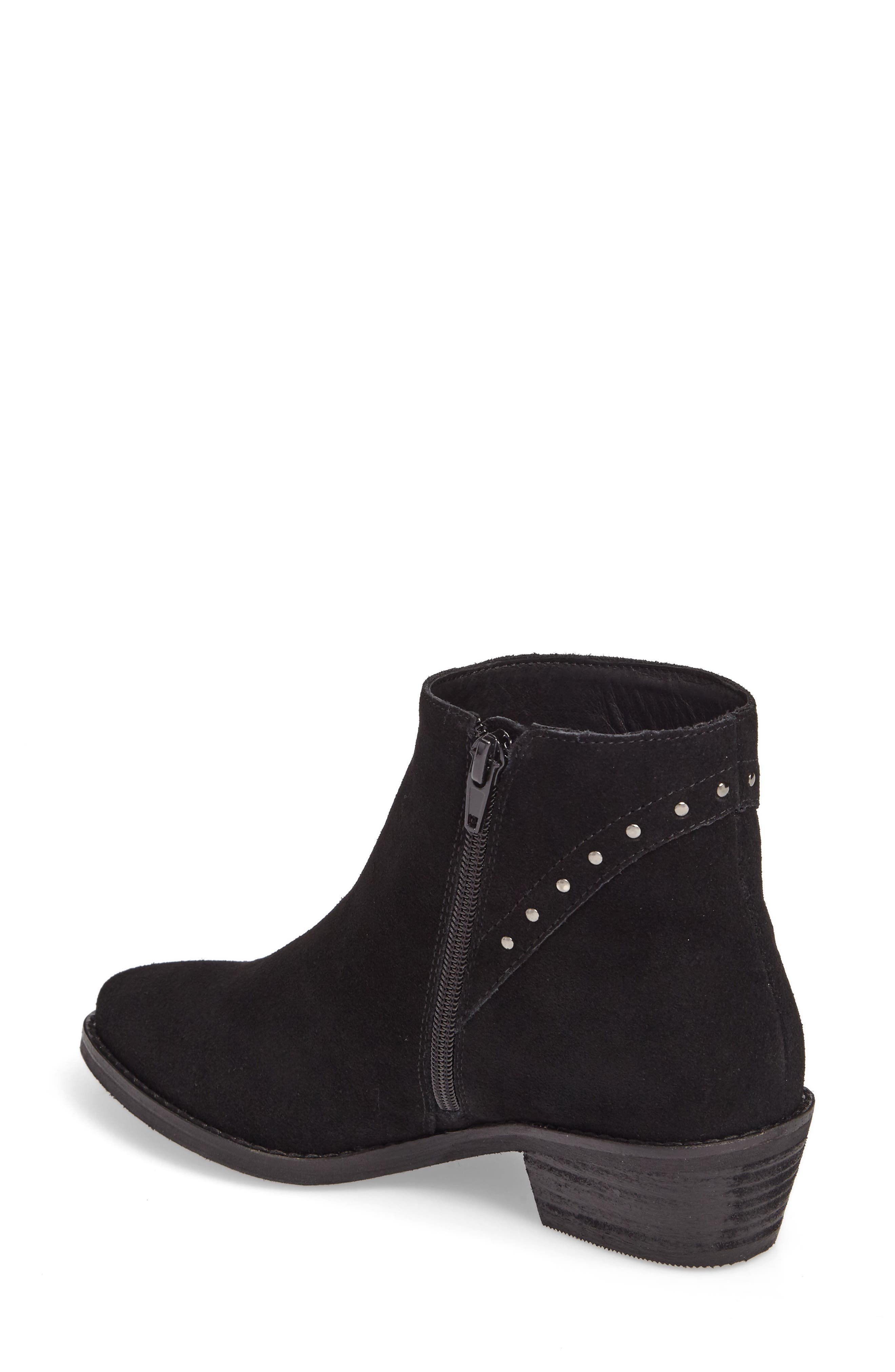 Irven Stud Bootie,                             Alternate thumbnail 2, color,                             Black Suede