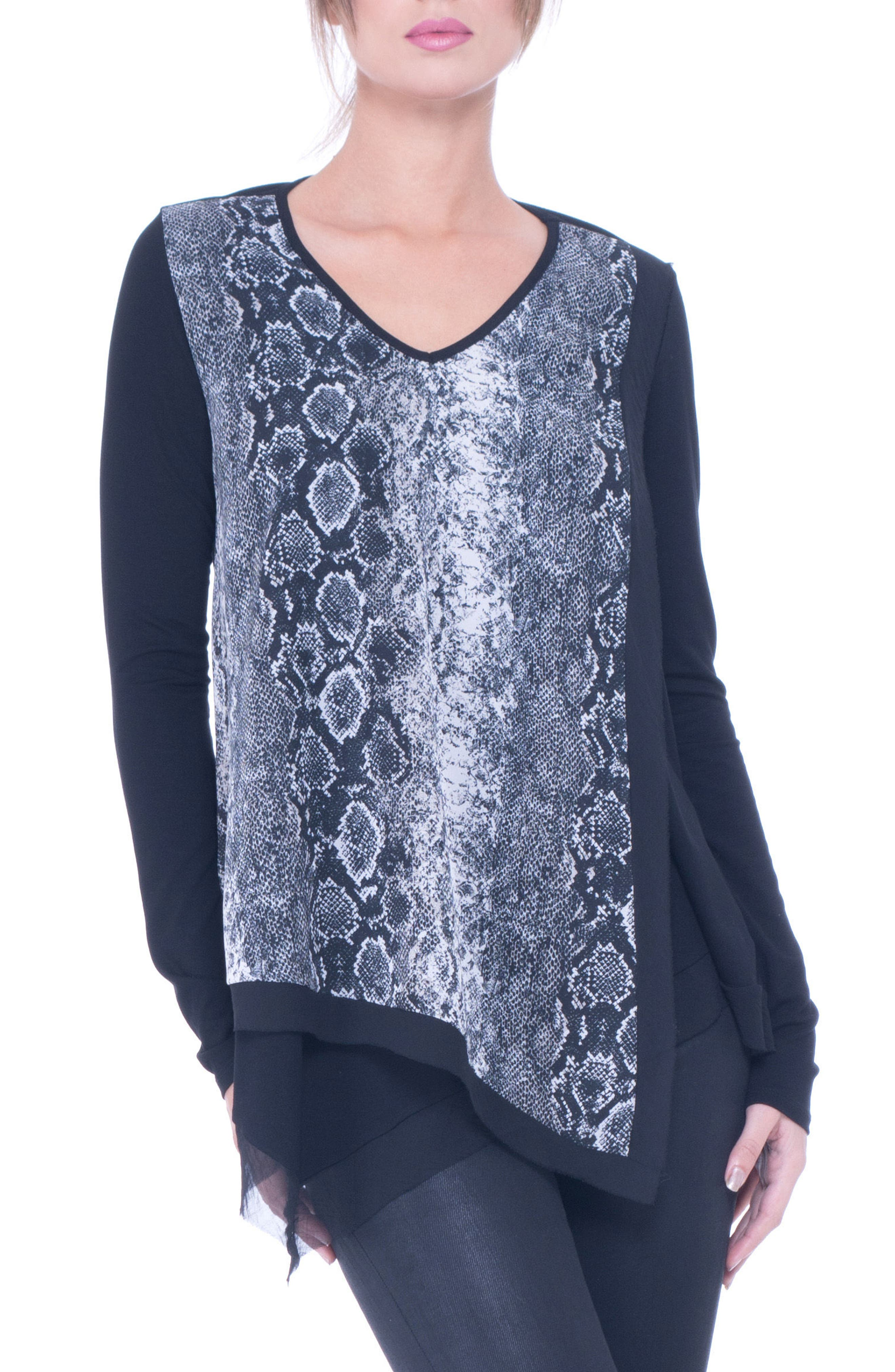 Alternate Image 1 Selected - Olian Caprice Python Print Maternity/Nursing Top