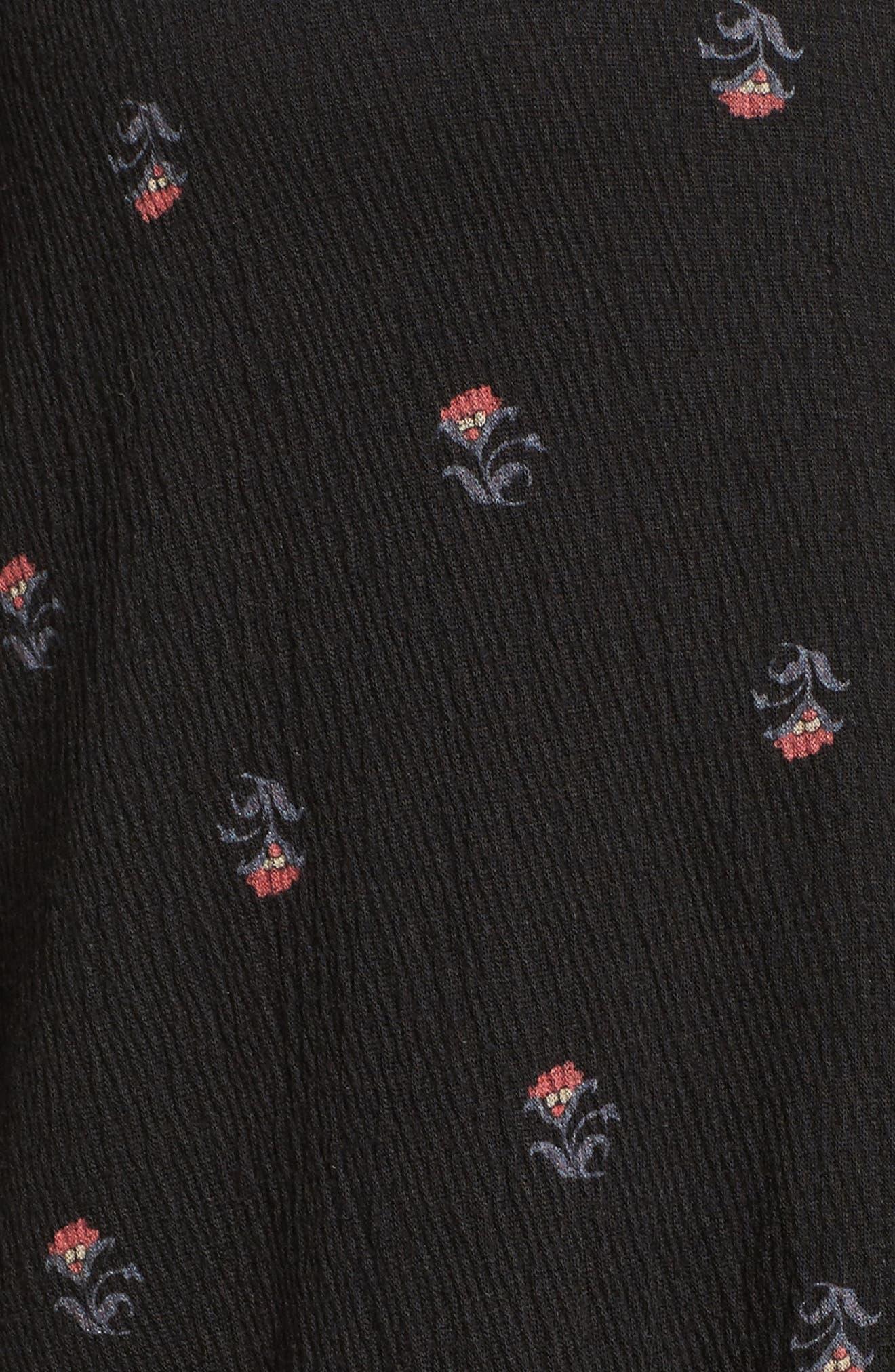 Alternate Image 5  - Lucky Brand Ditsy Print Shirt (Plus Size)