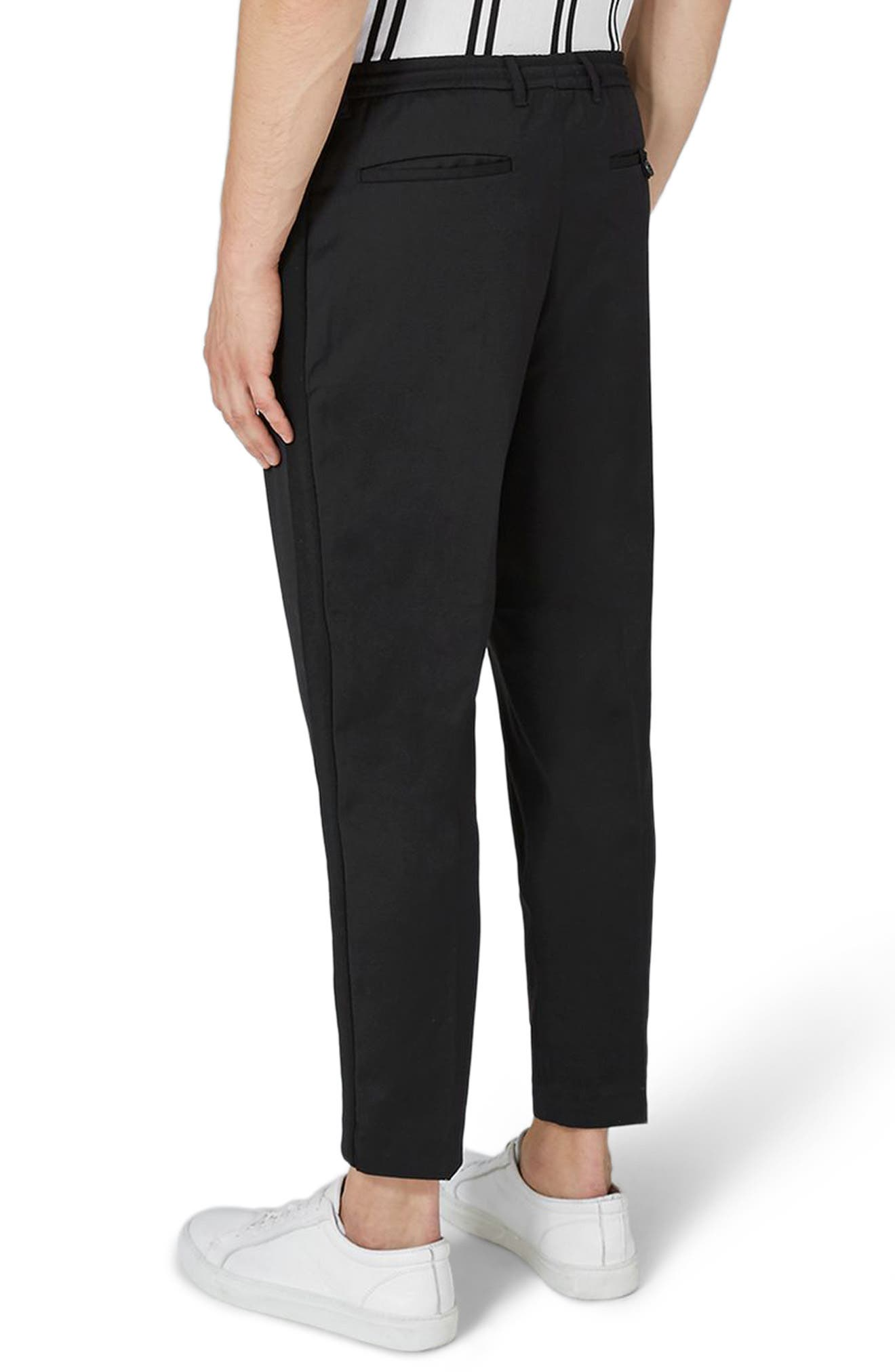 Side Zip Dress Pants,                             Alternate thumbnail 2, color,                             Black