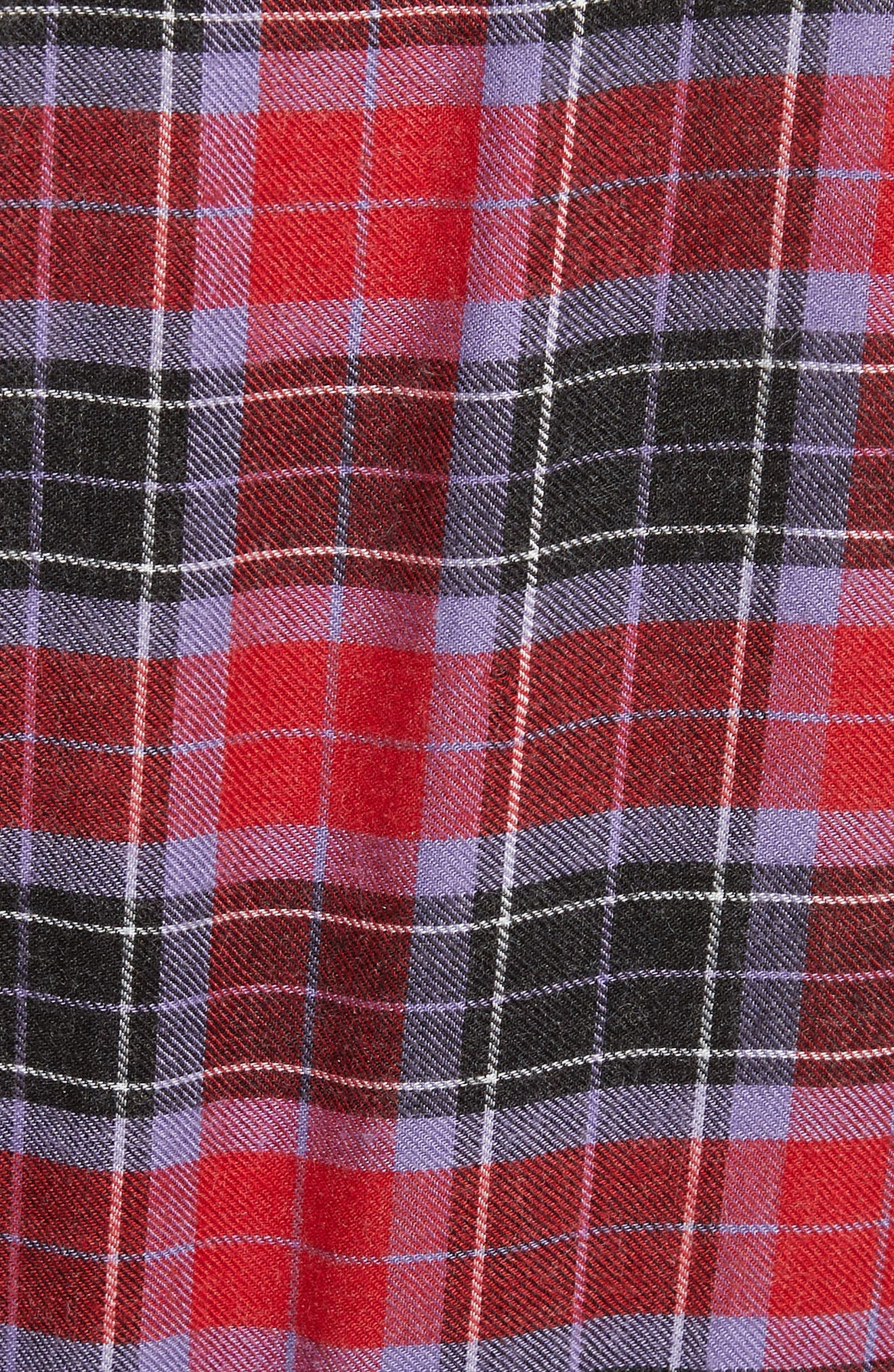 Flannel Kilt Dress,                             Alternate thumbnail 5, color,                             Jewel Red Multi