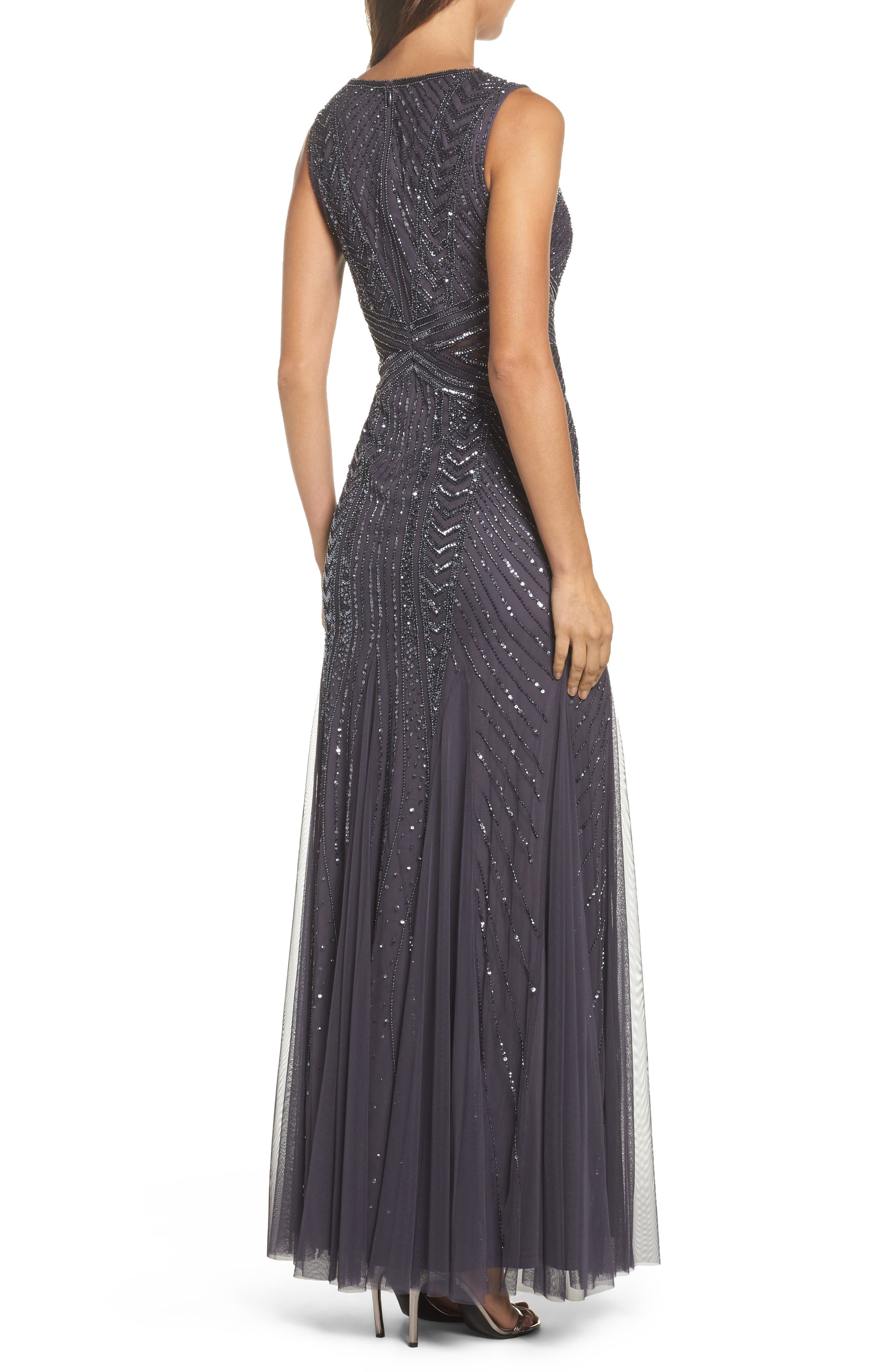 Alternate Image 2  - Adrianna Papell Beaded Sleeveless Gown (Regular & Petite)