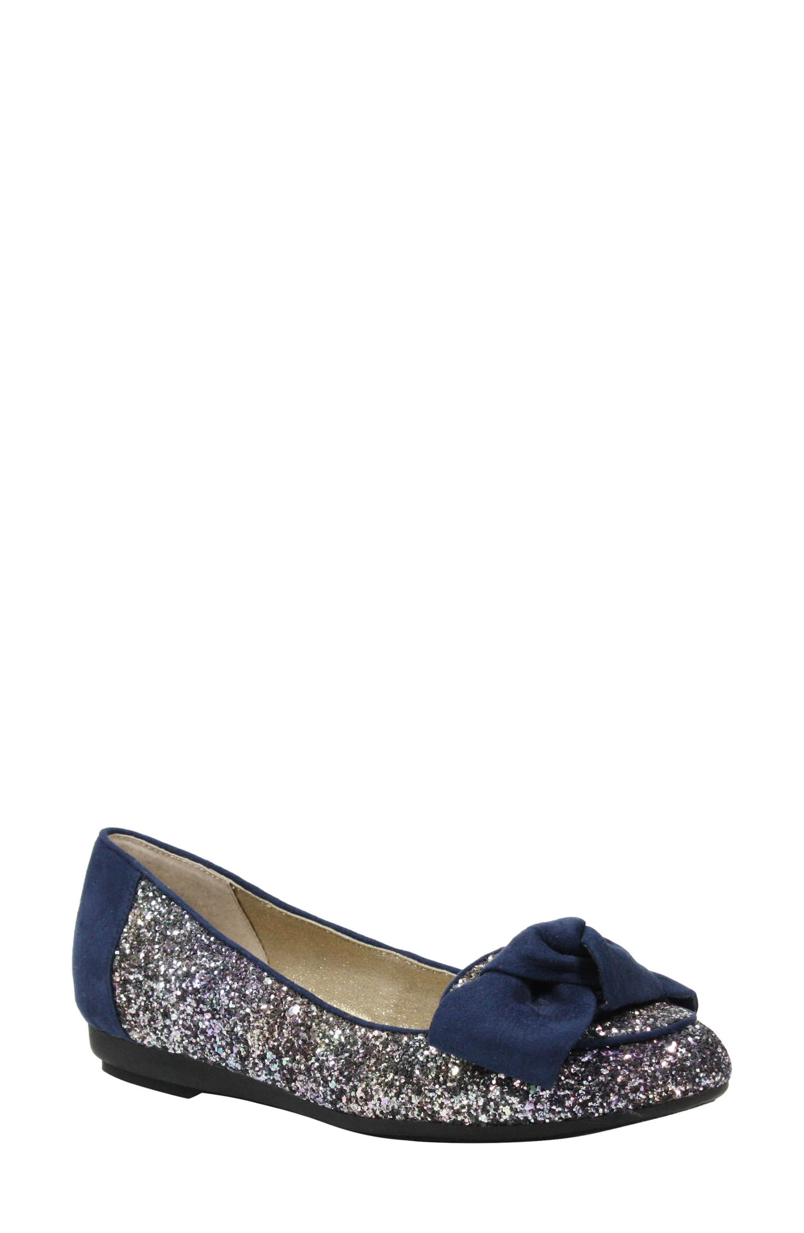 Bacton Flat,                         Main,                         color, Blue/ Gold Glitter Fabric