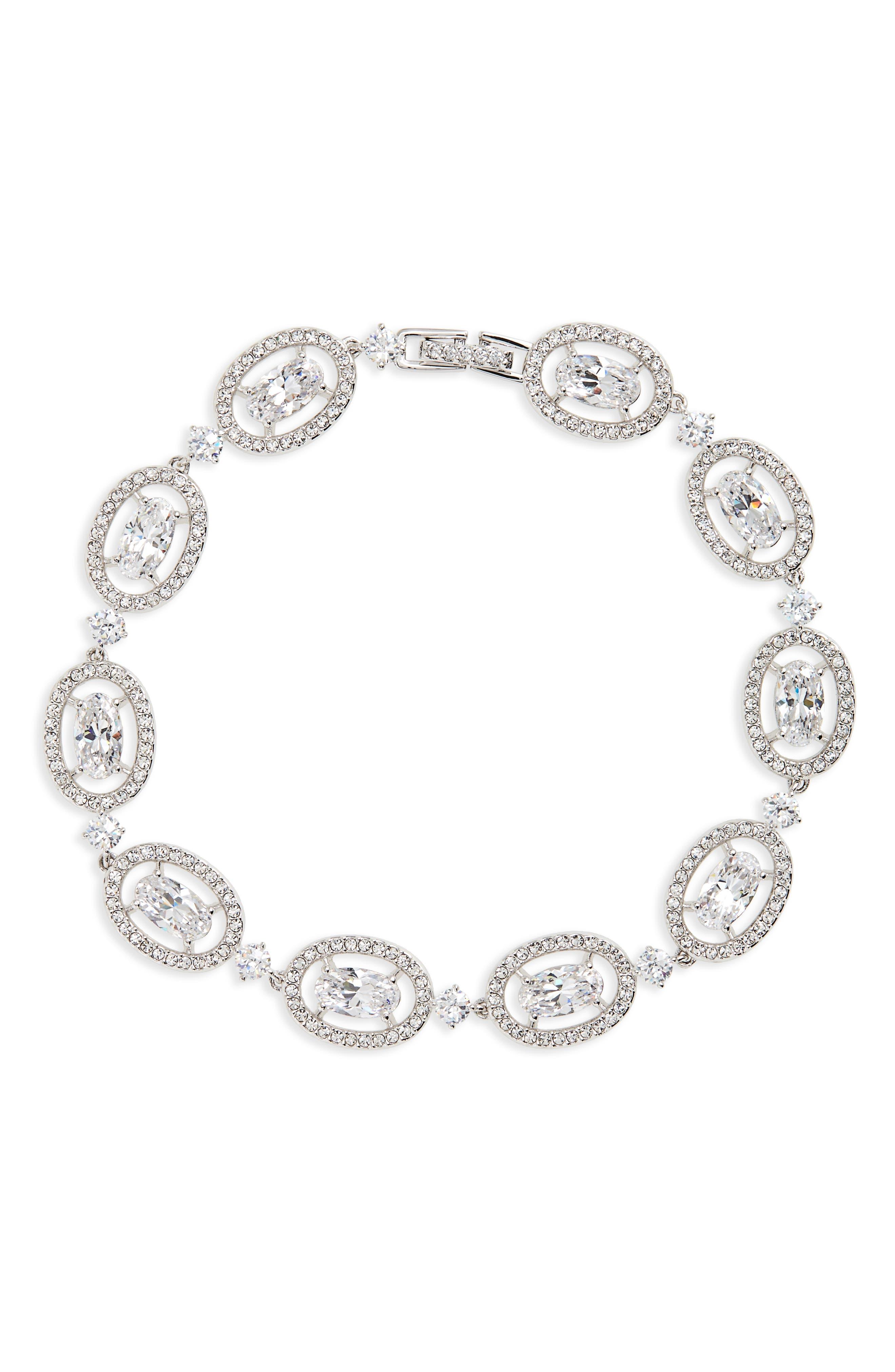 Nadri Crystal Halo Bracelet