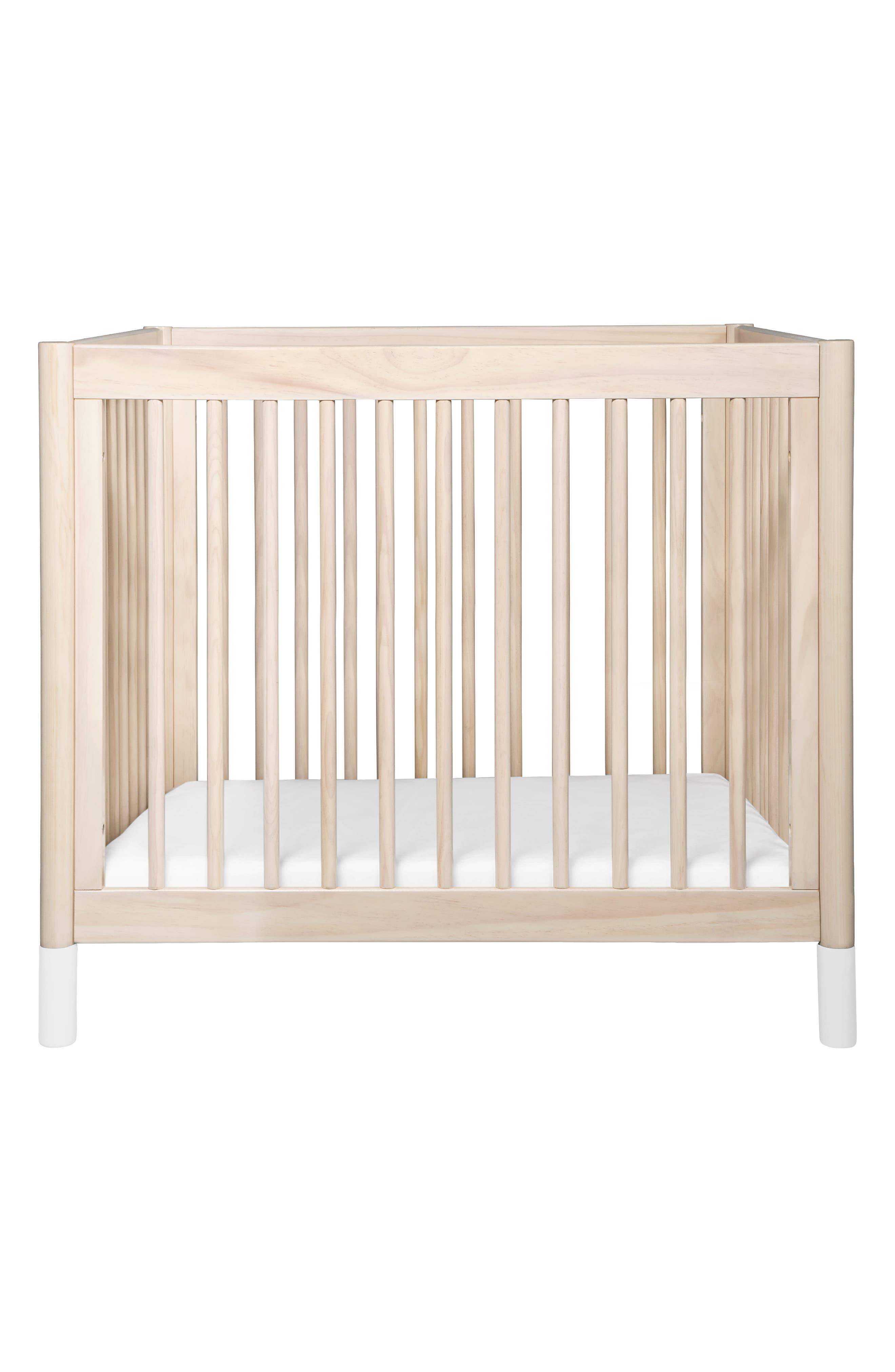 Gelato Mini Crib,                             Alternate thumbnail 2, color,                             Washed Natural And White