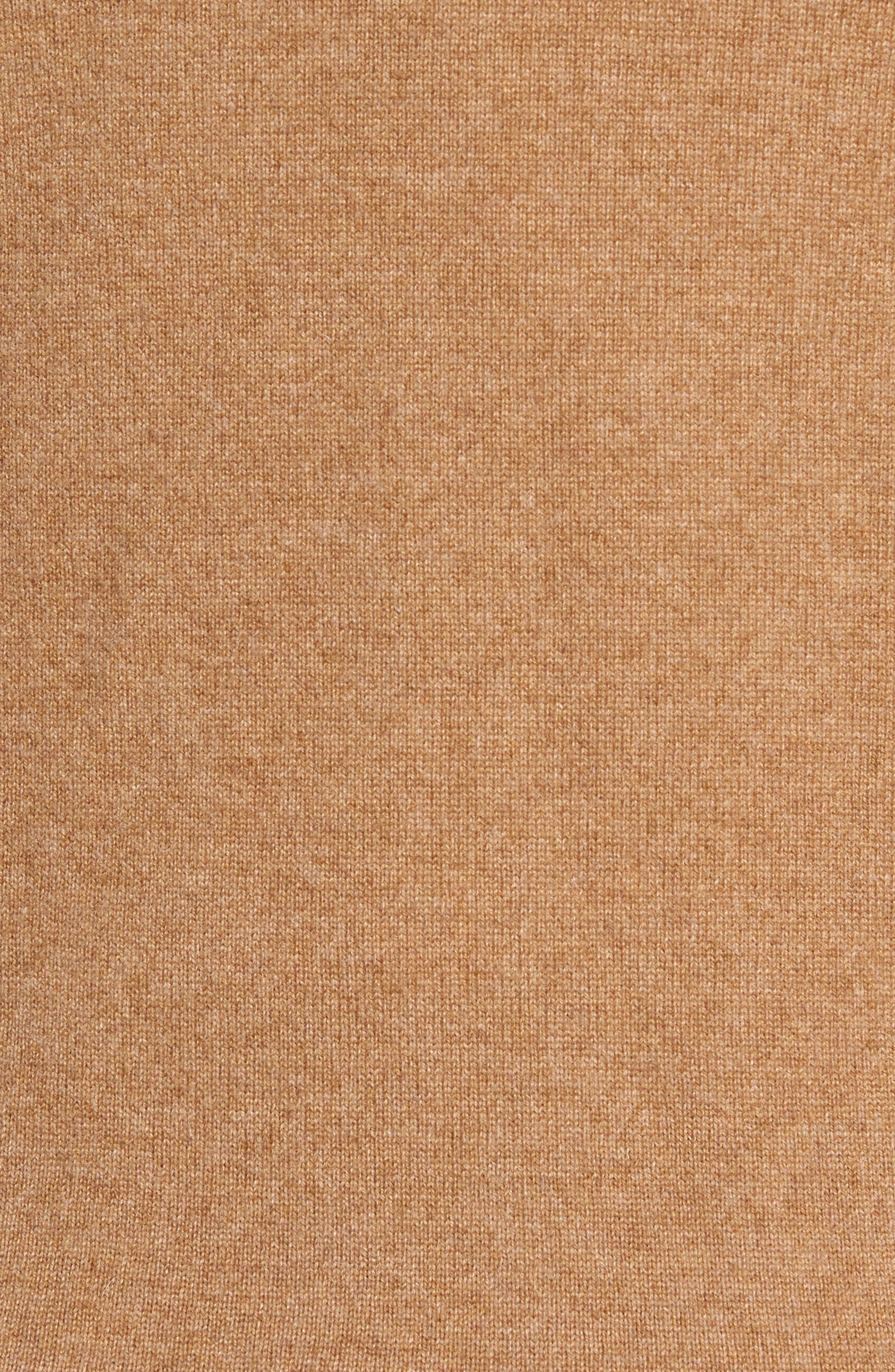 Cashmere Quarter Zip Sweater,                             Alternate thumbnail 5, color,                             Brown Bear