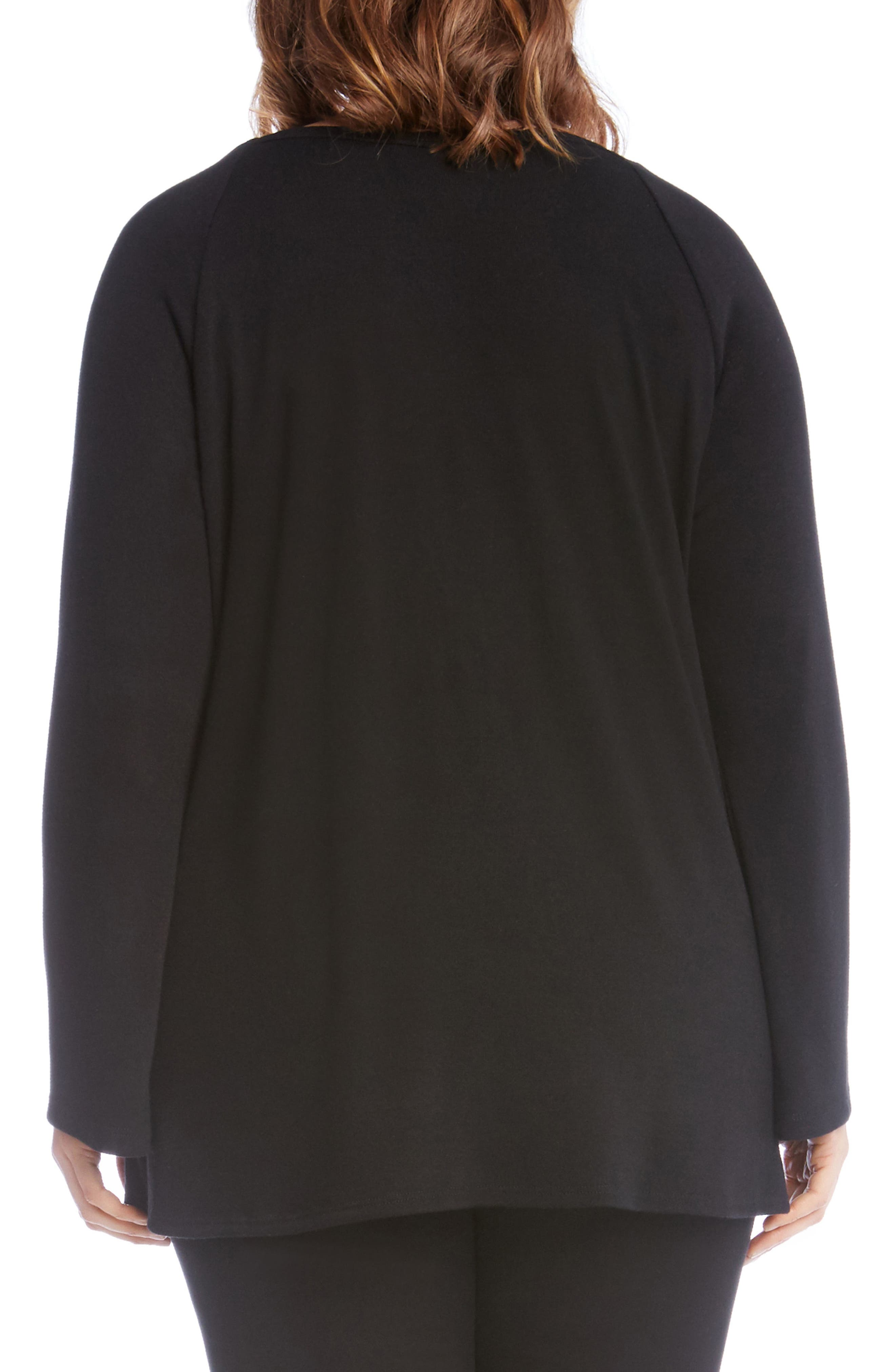 Alternate Image 3  - Karen Kane Lace Overlay Jersey Top (Plus Size)