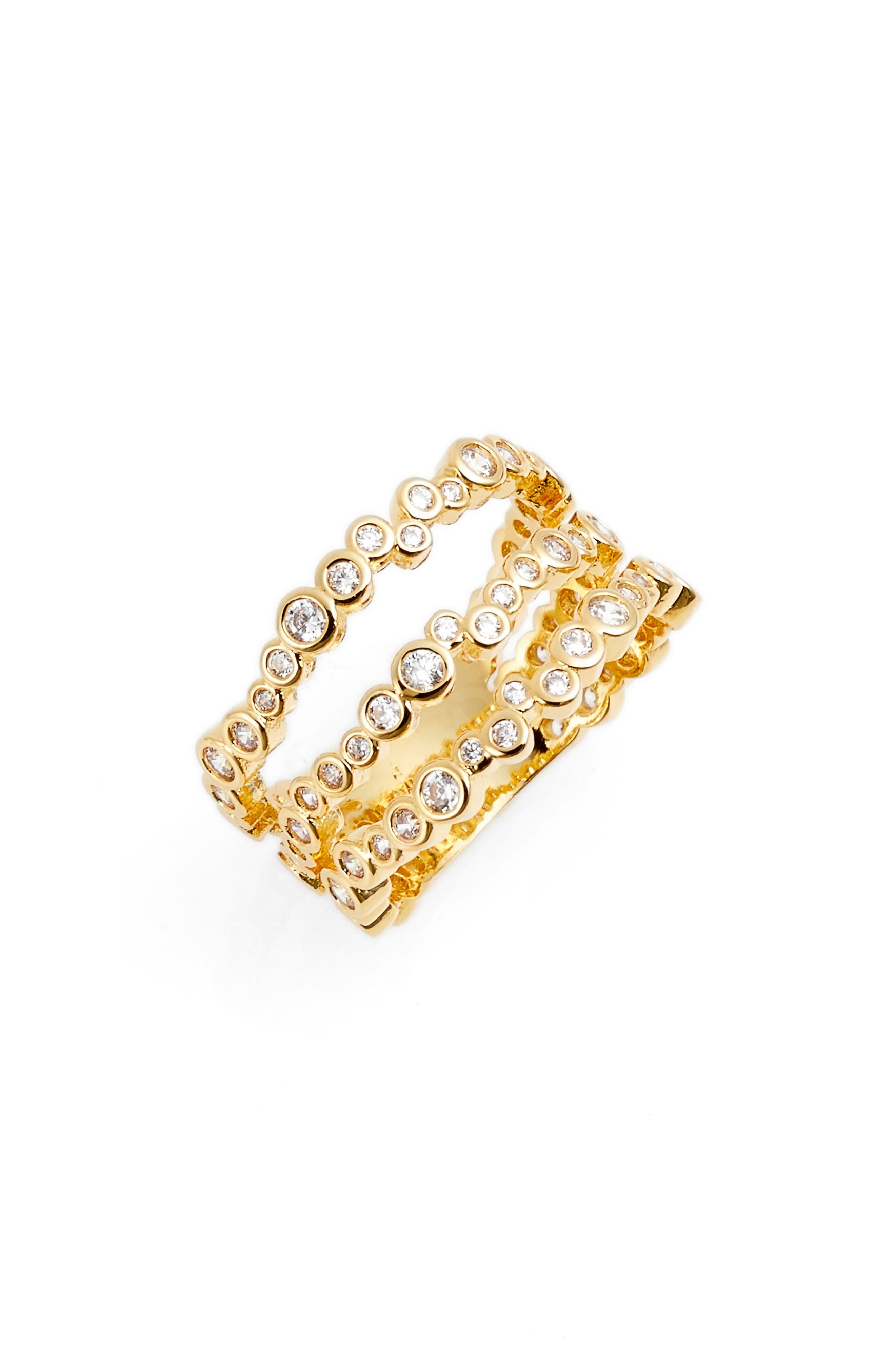 Arabella Stack Ring,                             Main thumbnail 1, color,                             Gold