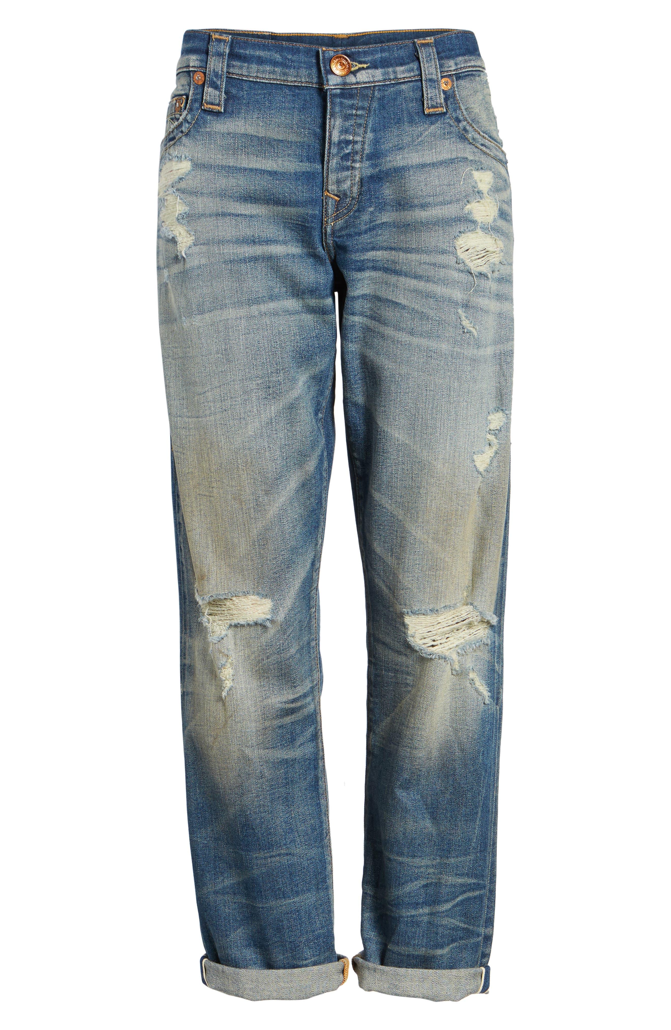 Cameron Slim Boyfriend Jeans,                             Alternate thumbnail 8, color,                             Indigo Legacy
