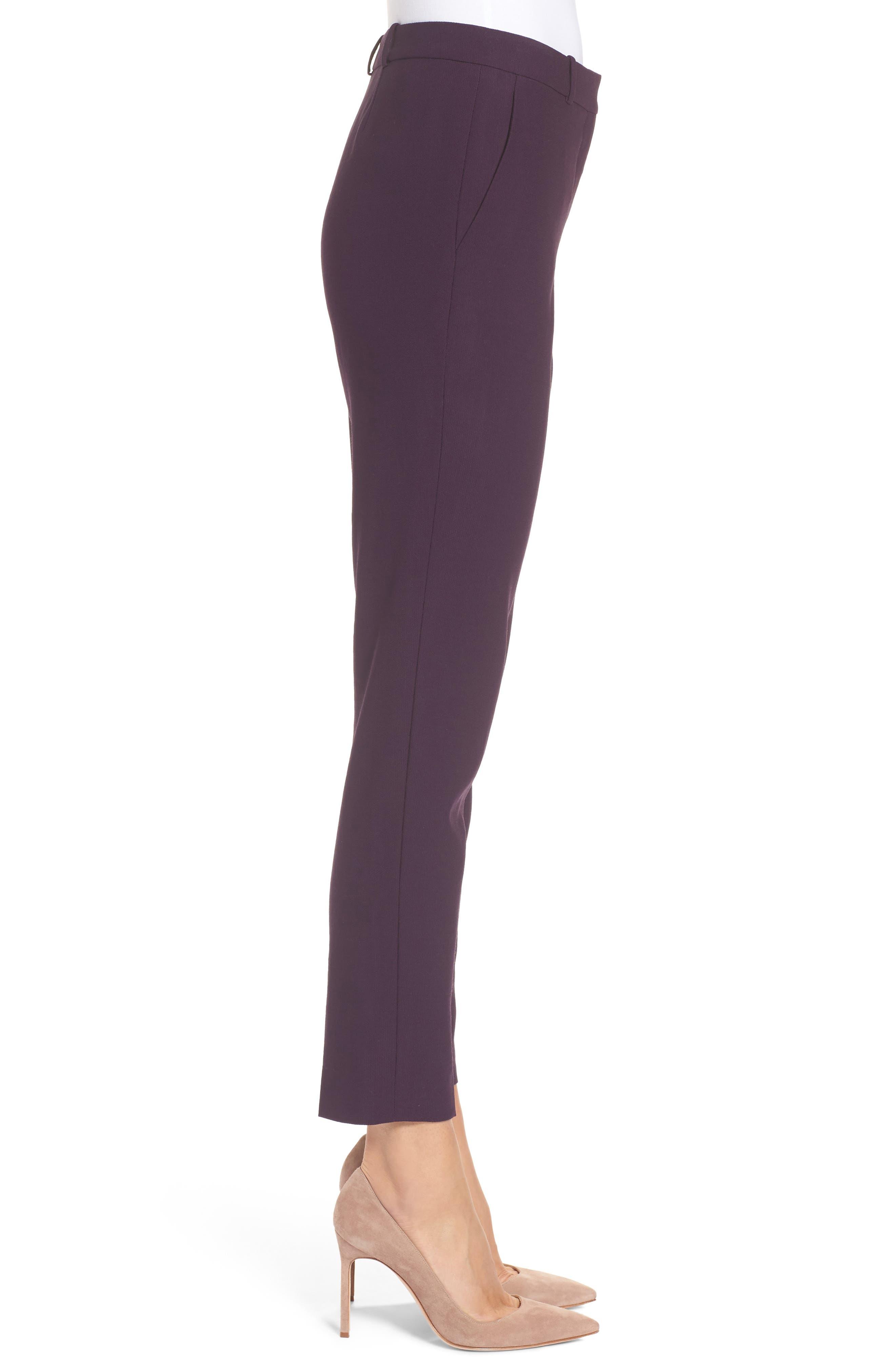 Alternate Image 3  - BOSS Tiluna Straight Leg Wool Suit Pants