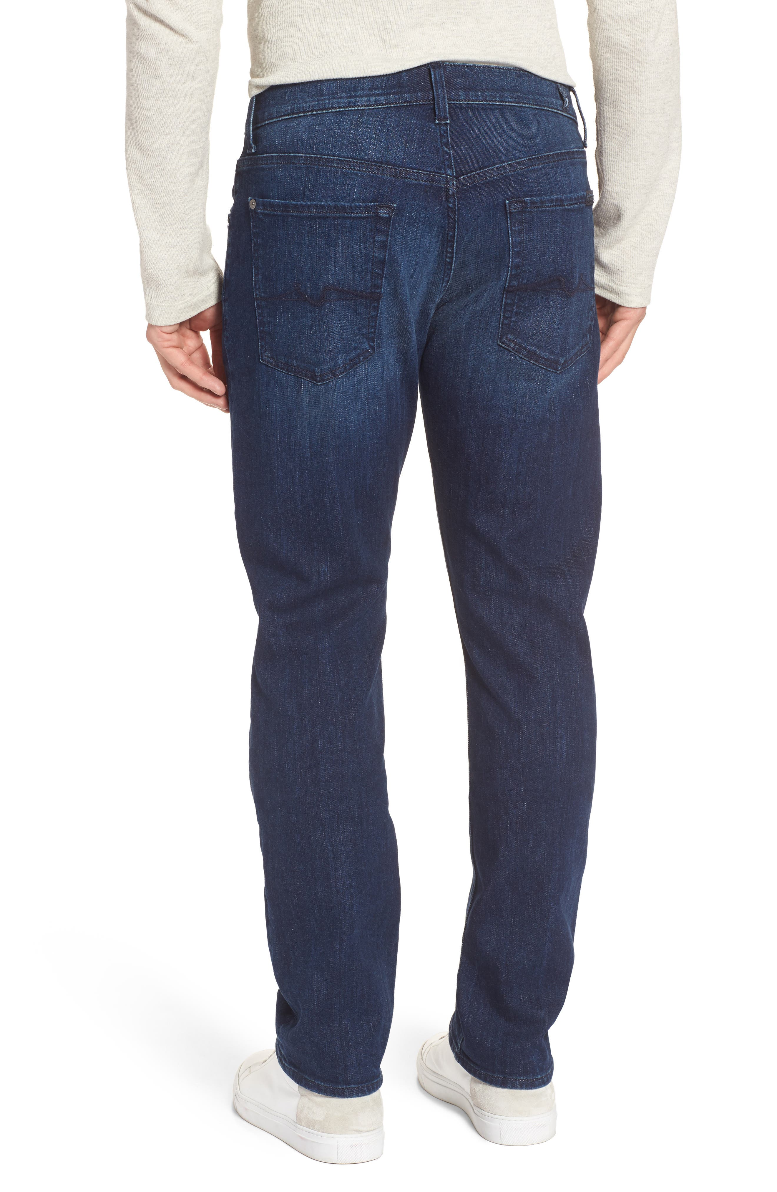 Alternate Image 2  - 7 For All Mankind® The Straight Slim Straight Fit Jeans (Montauk)