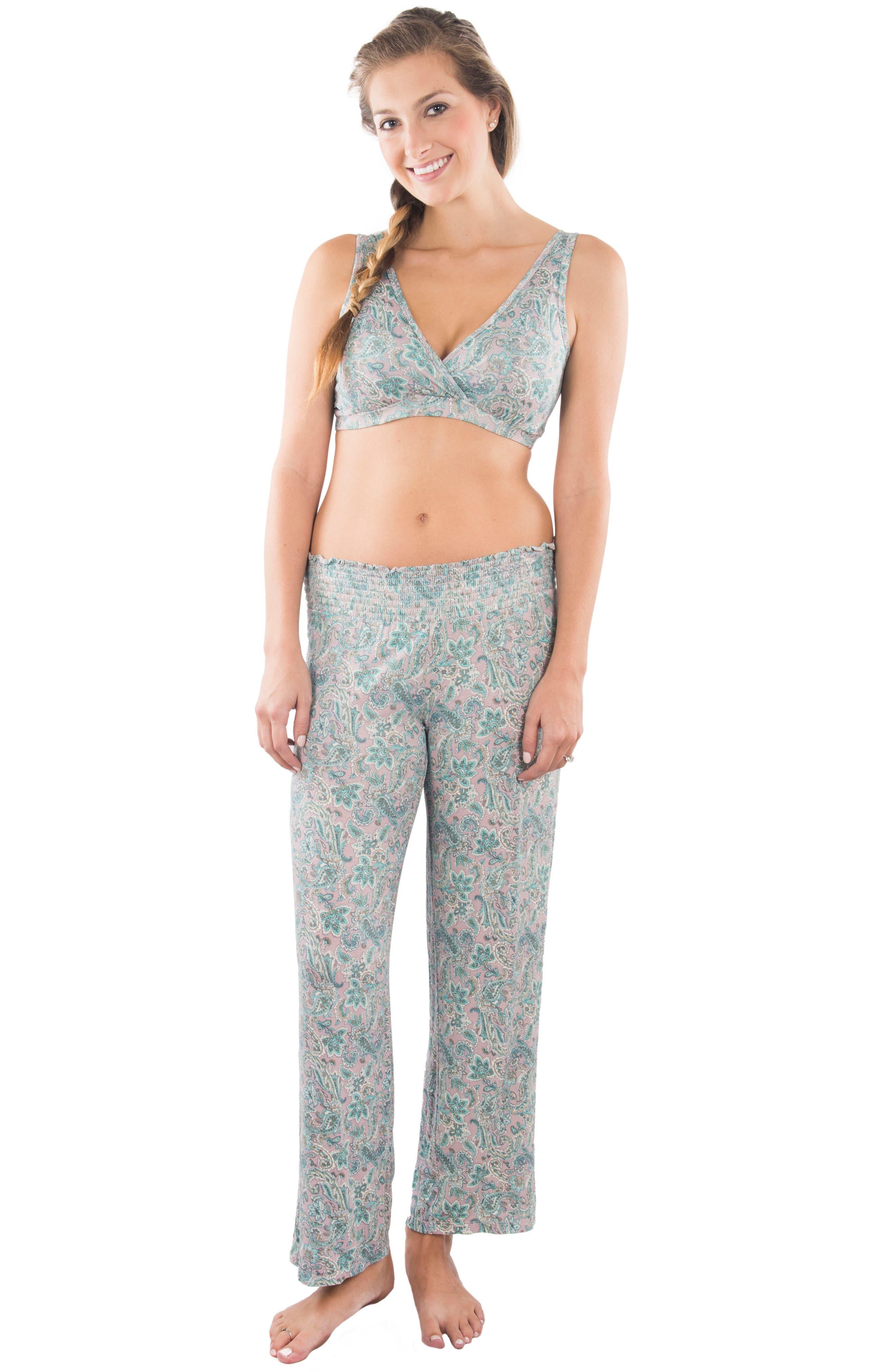 Alternate Image 4  - Everly Grey Susan 5-Piece Maternity/Nursing Pajama Set