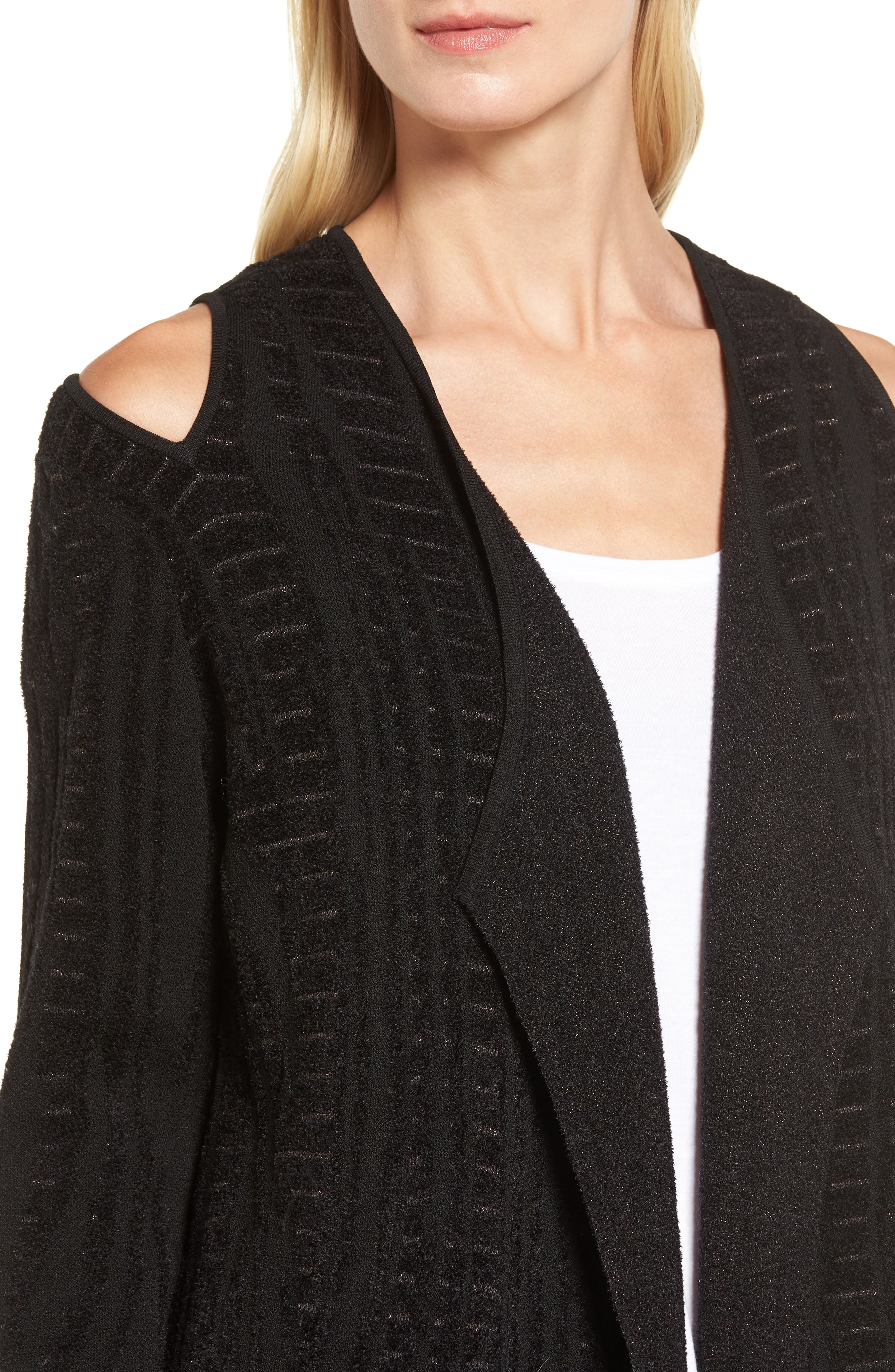 Alternate Image 4  - NIC+ZOE Winter Reign Cold Shoulder Cardigan