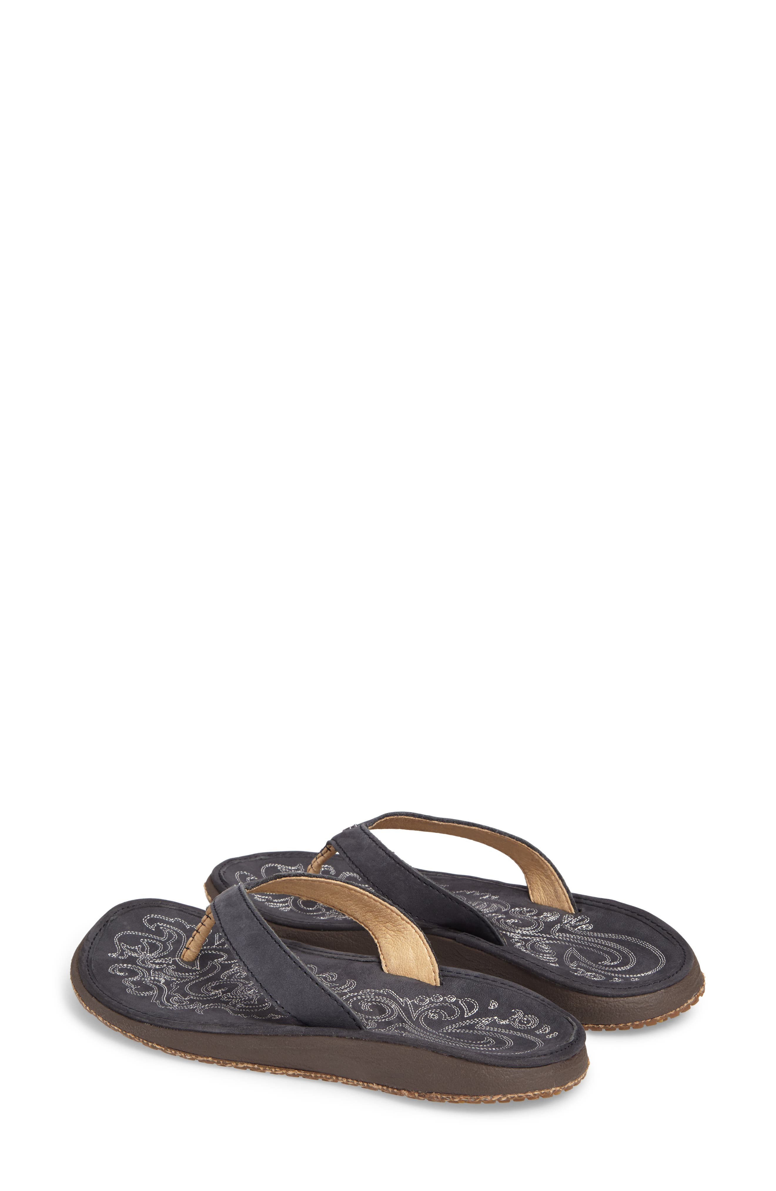 'Paniolo' Thong Sandal,                             Alternate thumbnail 2, color,                             Trench Blue/ Blue Leather