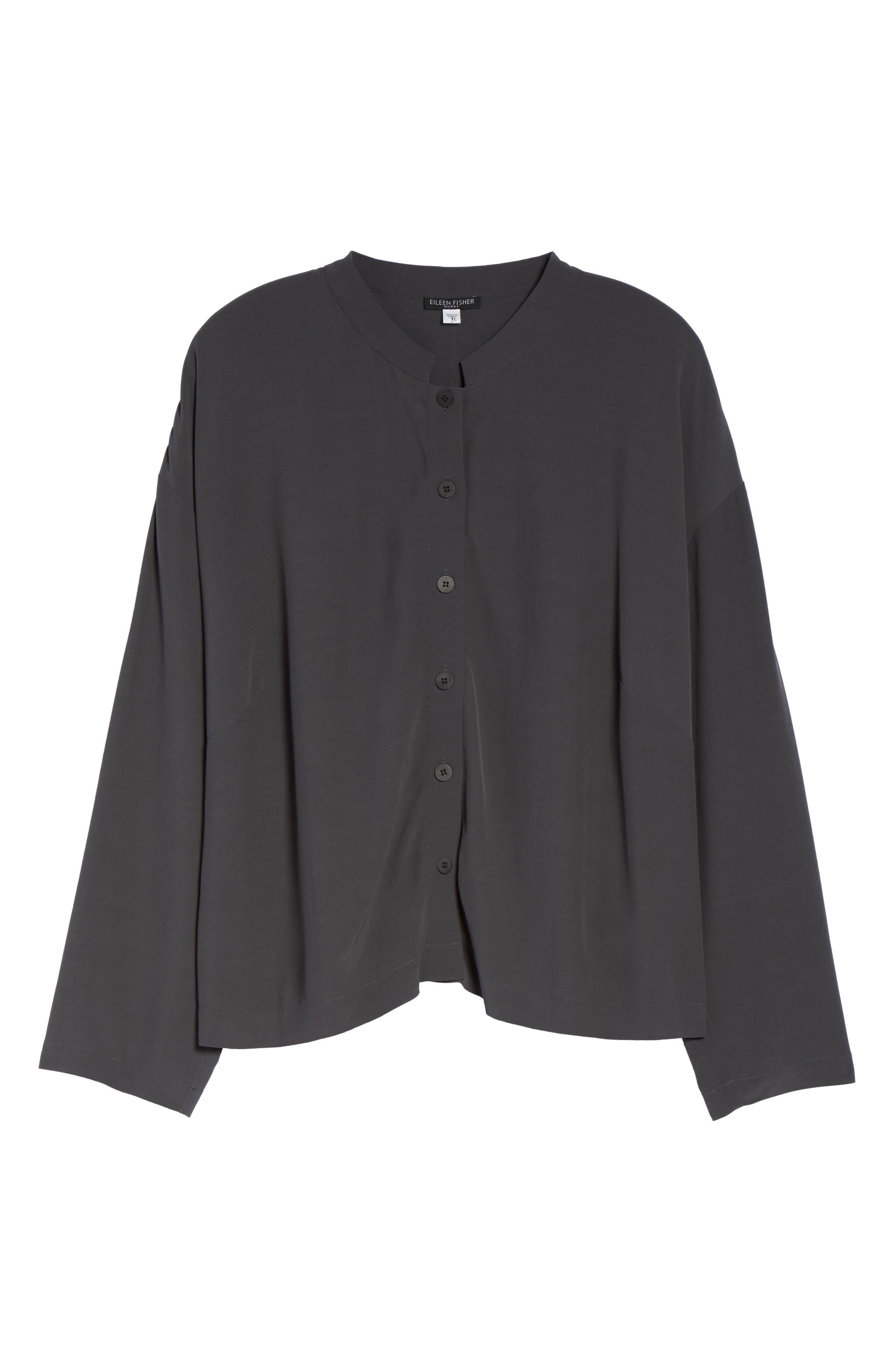 Eileen Fisher Mandarin Collar Boxy Top (Plus Size)
