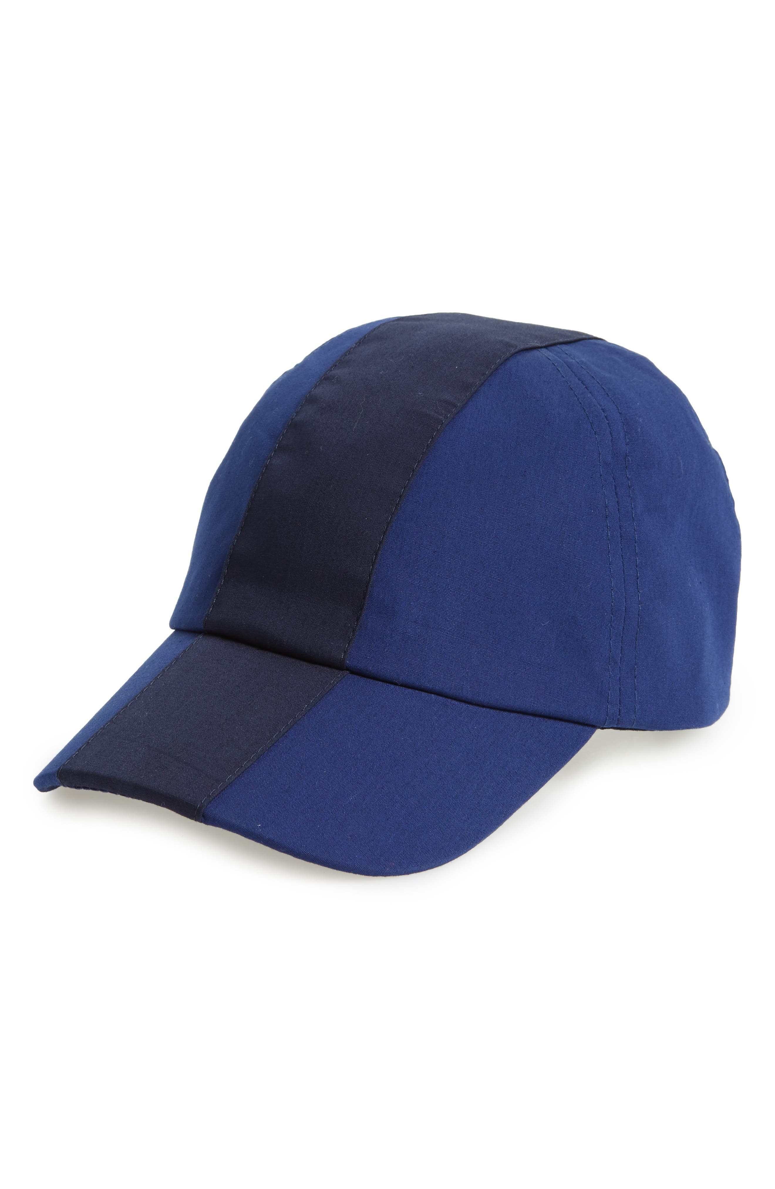 Colorblock Baseball Cap,                         Main,                         color, Methylene/ Navy Blue