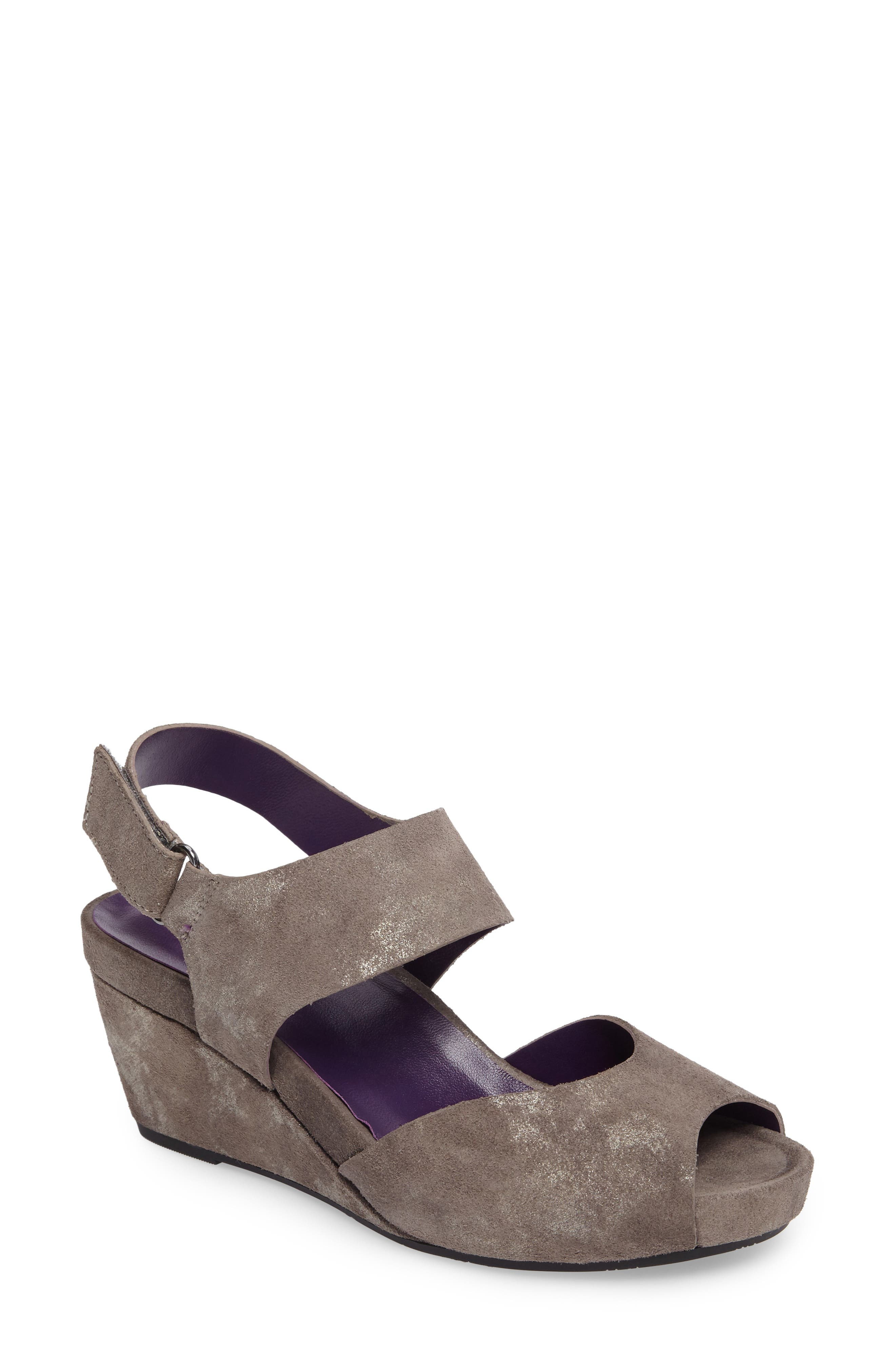 Ilex Wedge Sandal,                             Main thumbnail 1, color,                             Taupe Suede