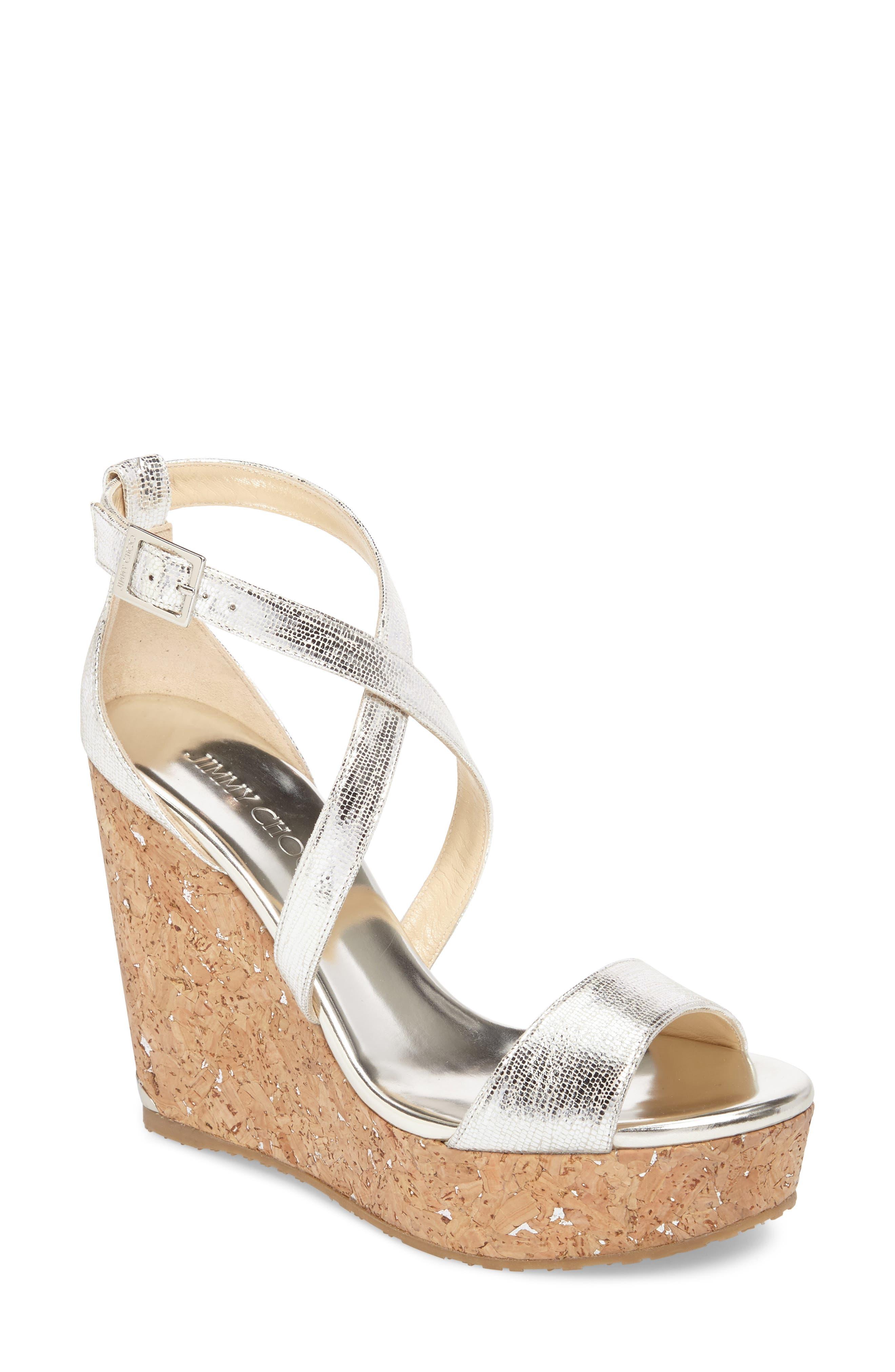 Jimmy Choo Portia Platform Wedge Sandal (Women)