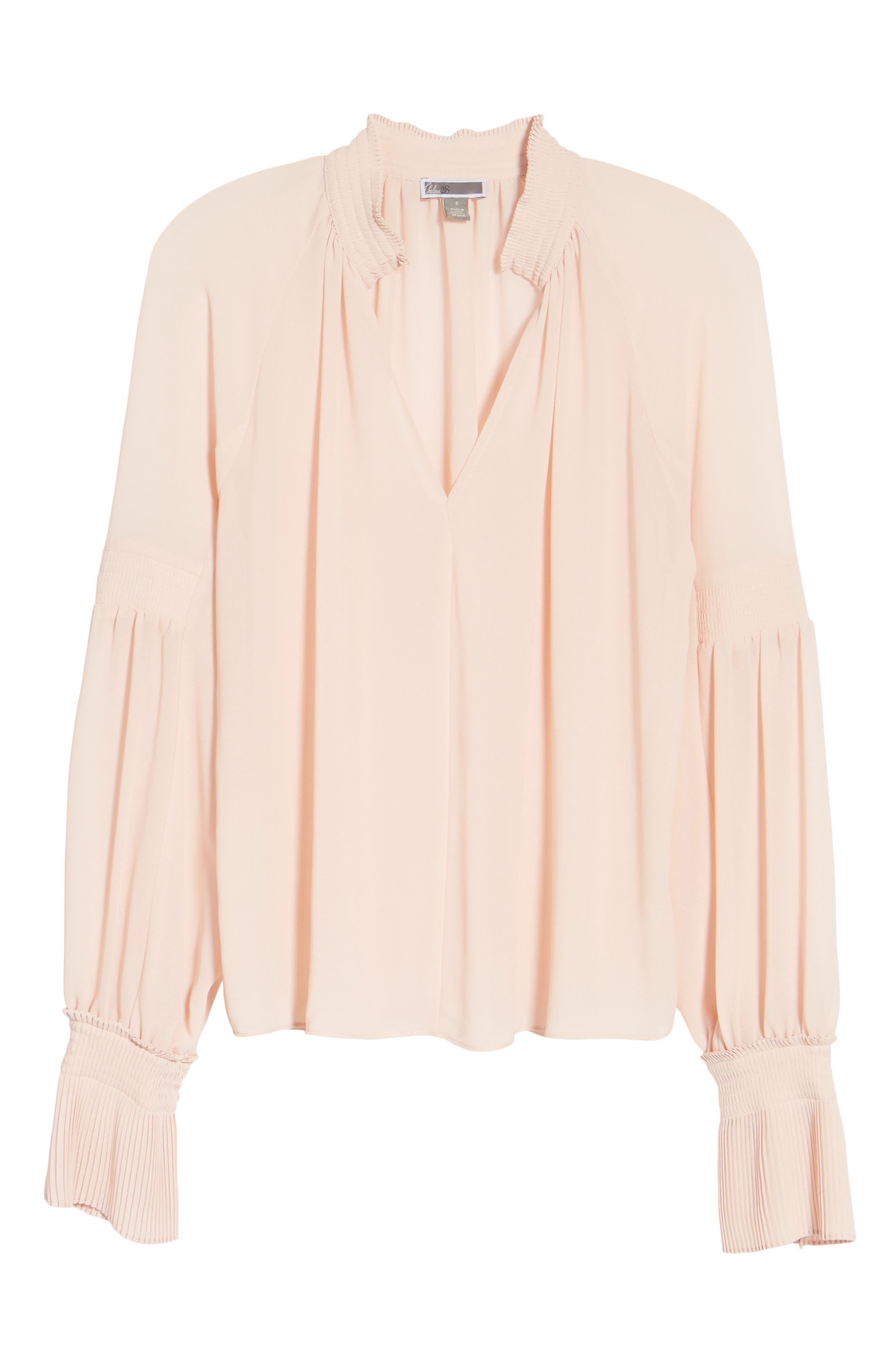 Flare Cuff Top,                             Alternate thumbnail 6, color,                             Pink Peach