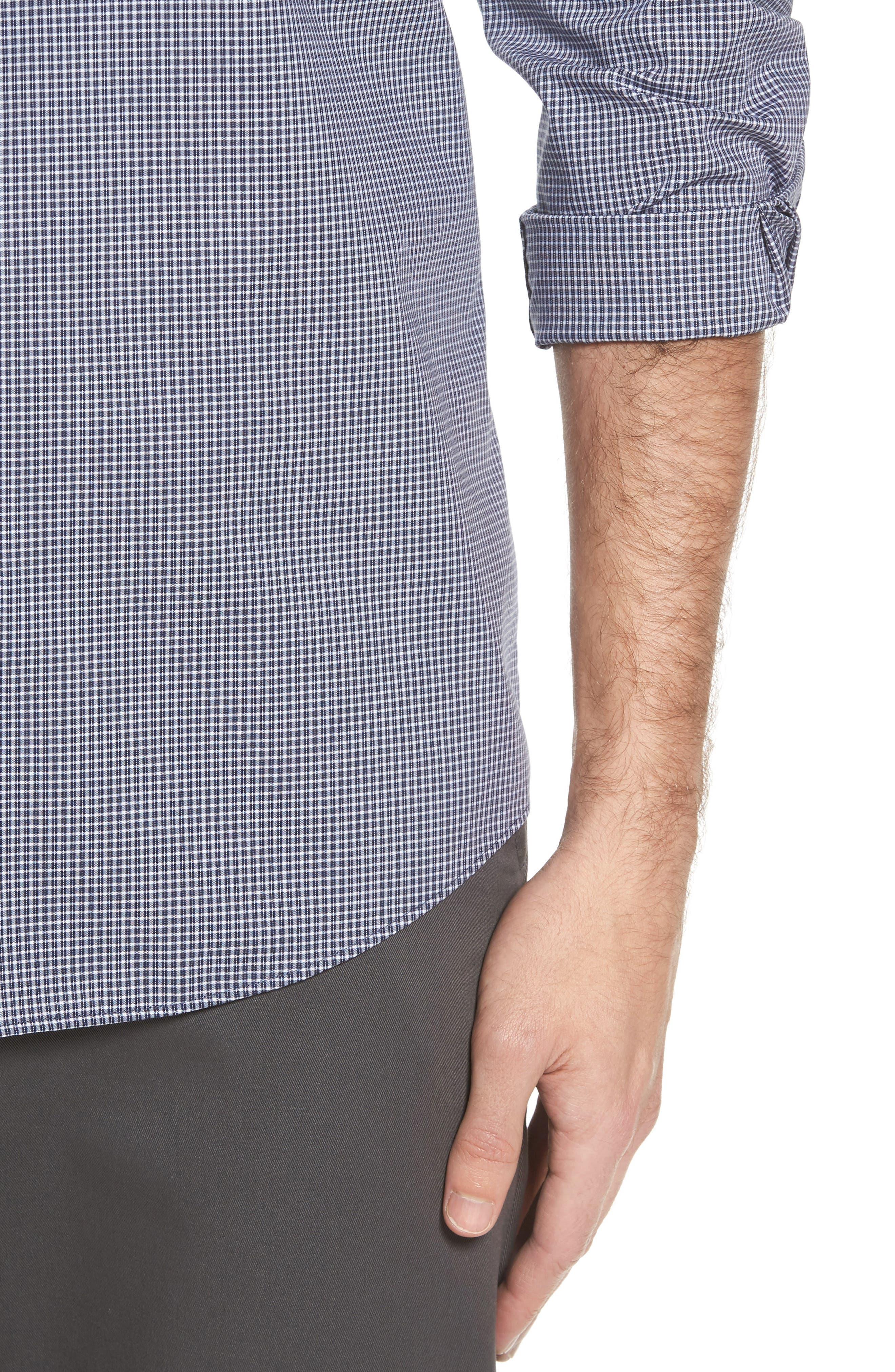 Alternate Image 4  - Nordstrom Men's Shop Non-Iron Microcheck Sport Shirt