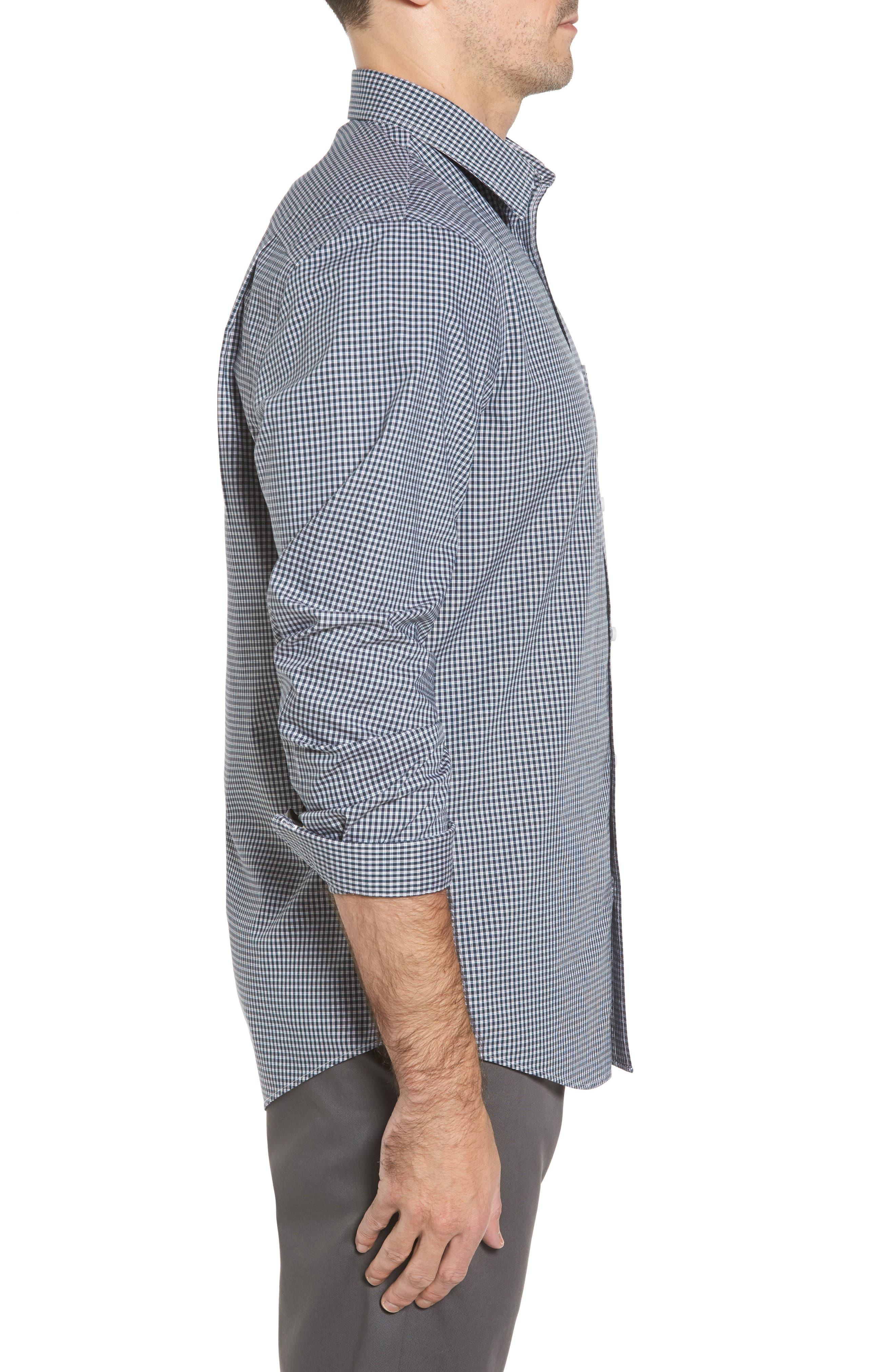Alternate Image 3  - Nordstrom Men's Shop Smartcare™ Regular Fit Plaid Sport Shirt