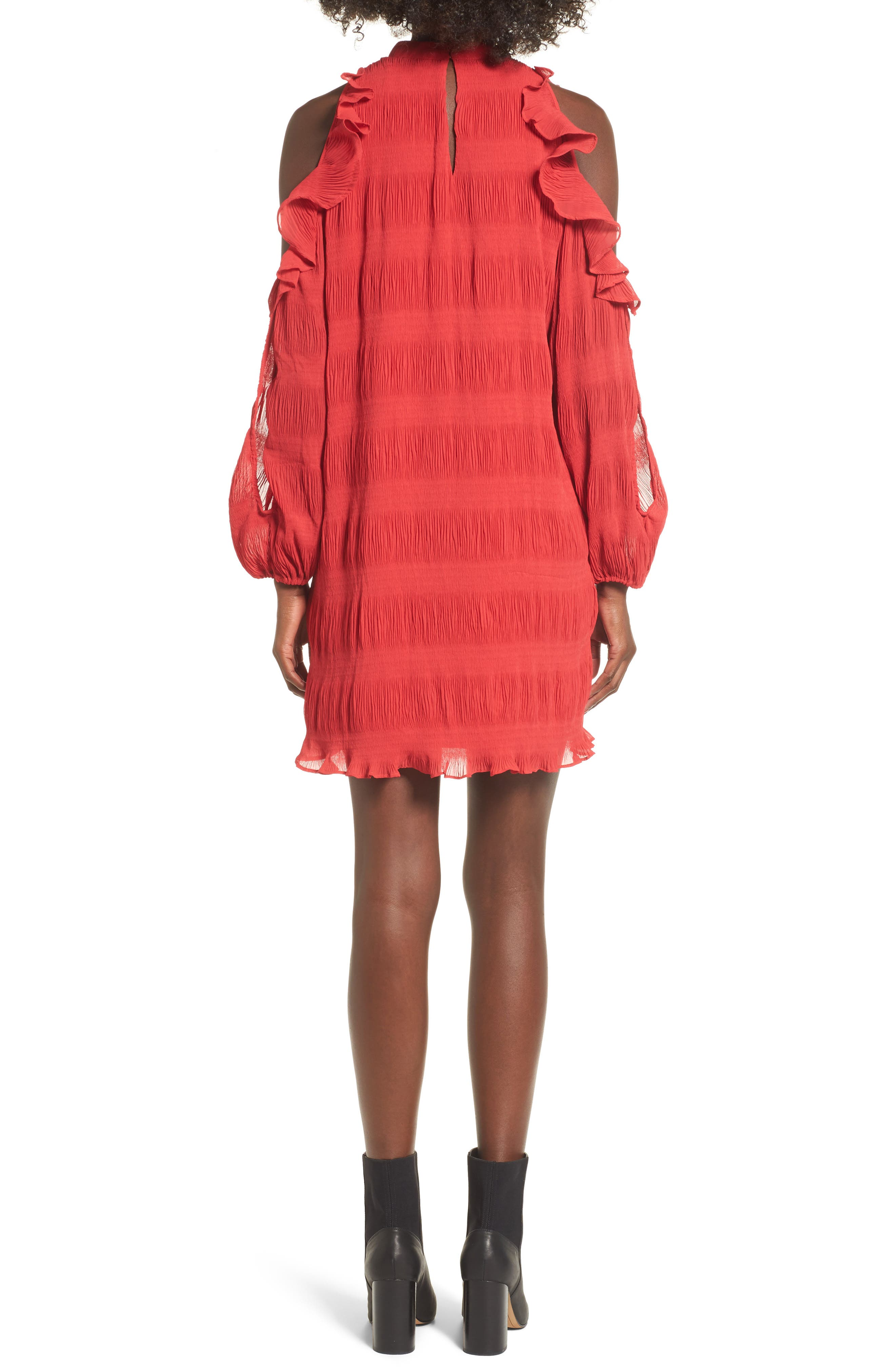 Hallie Cold Shoulder Dress,                             Alternate thumbnail 2, color,                             Dragon