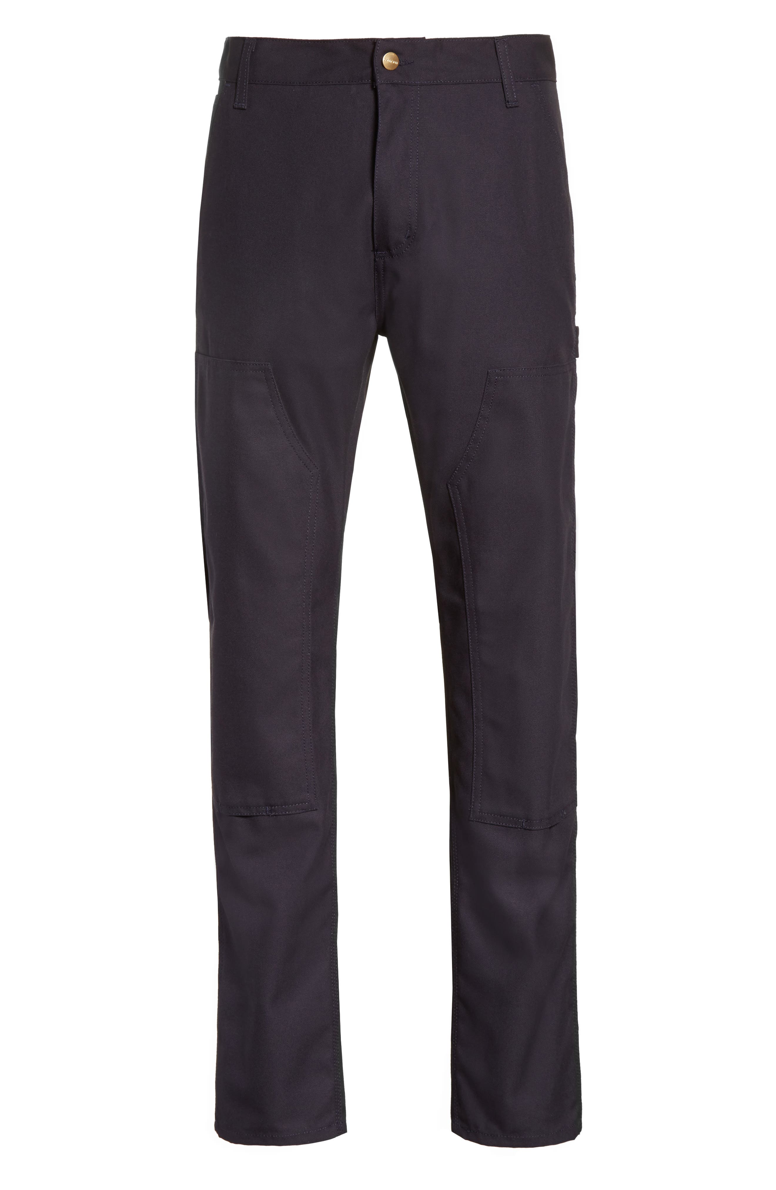 Ruck Double Knee Canvas Pants,                             Alternate thumbnail 6, color,                             Dark Navy