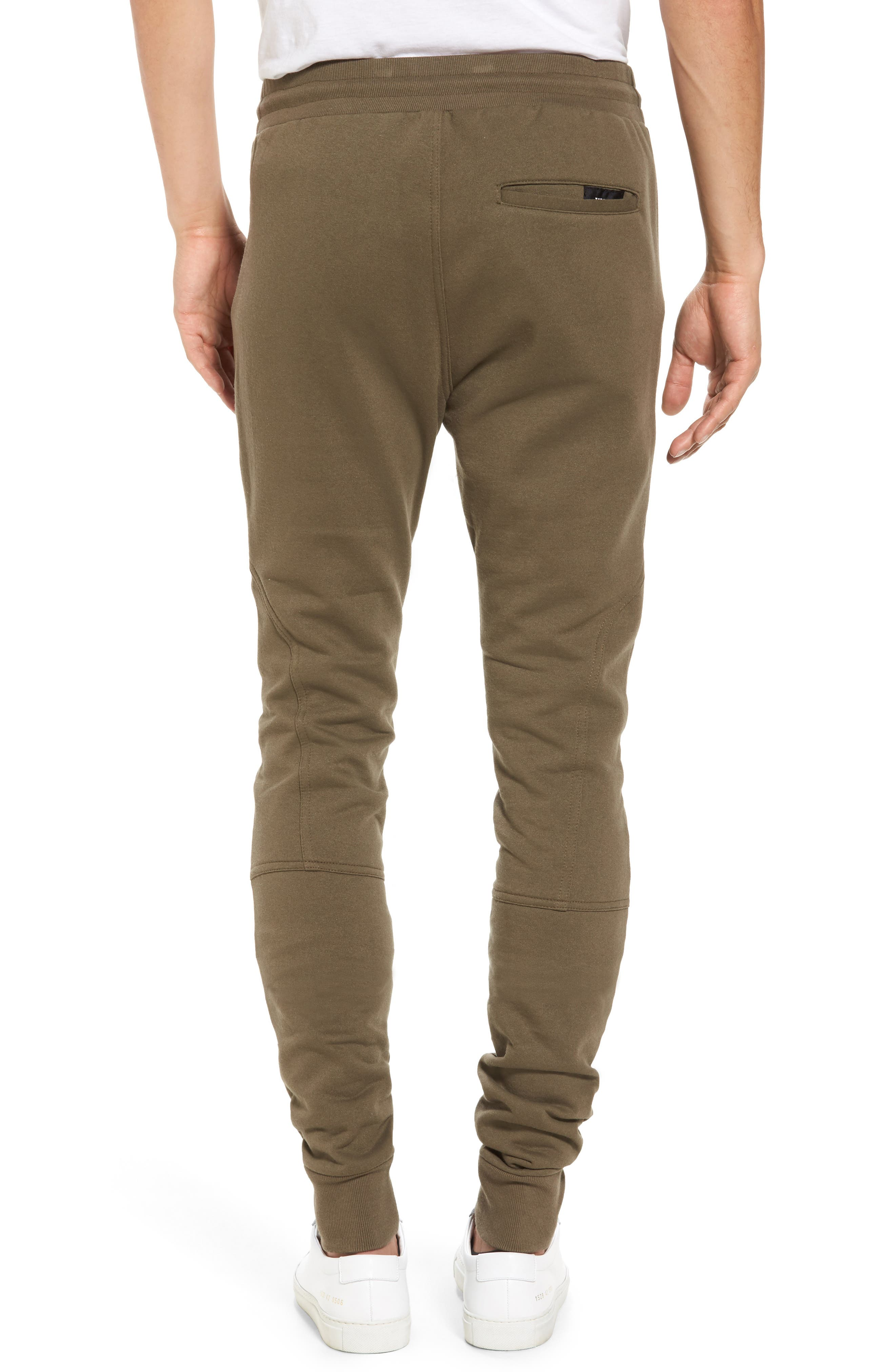 French Terry Sweatpants,                             Alternate thumbnail 2, color,                             Army
