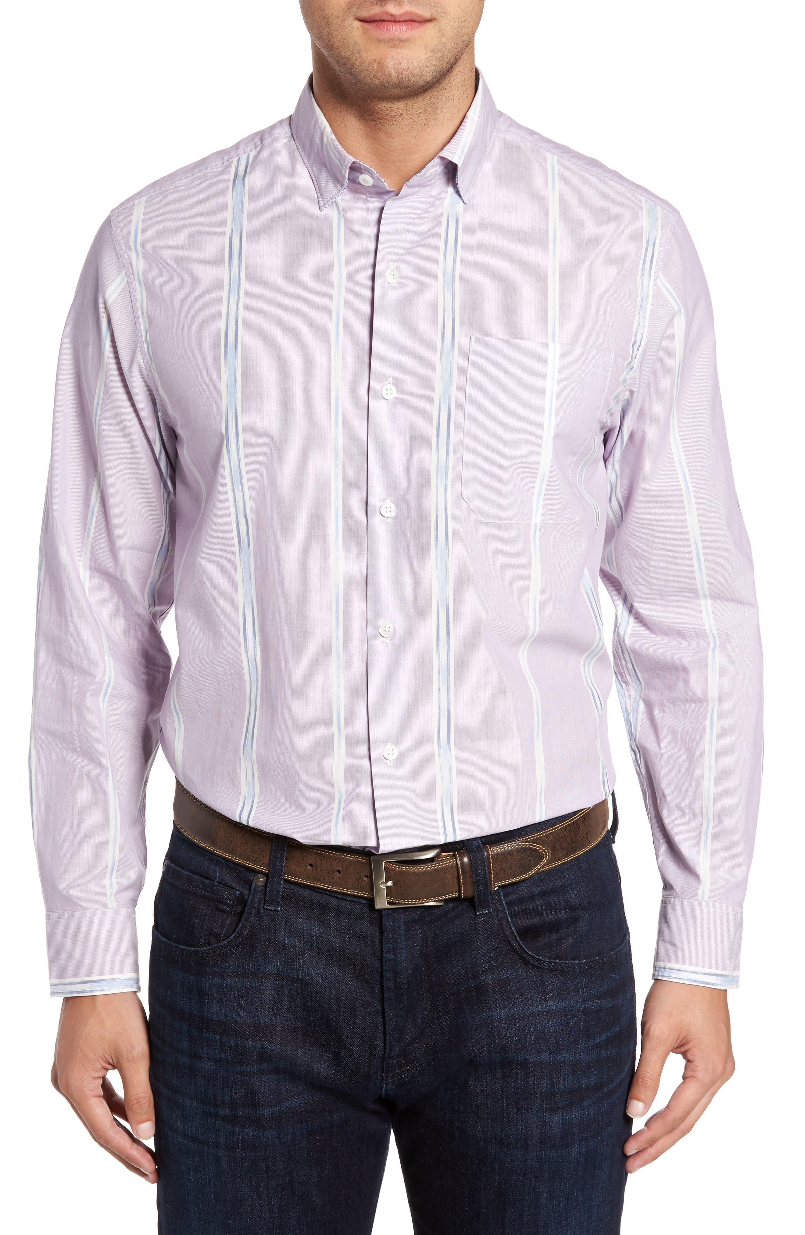 Tommy Bahama One Cool Ikat Stripe Sport Shirt