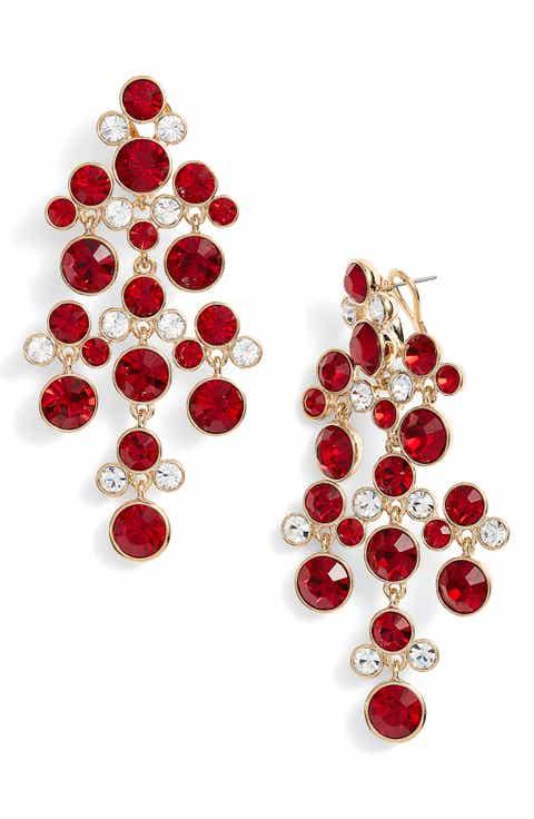 Womens chandelier earrings nordstrom givenchy crystal chandelier earrings aloadofball Gallery
