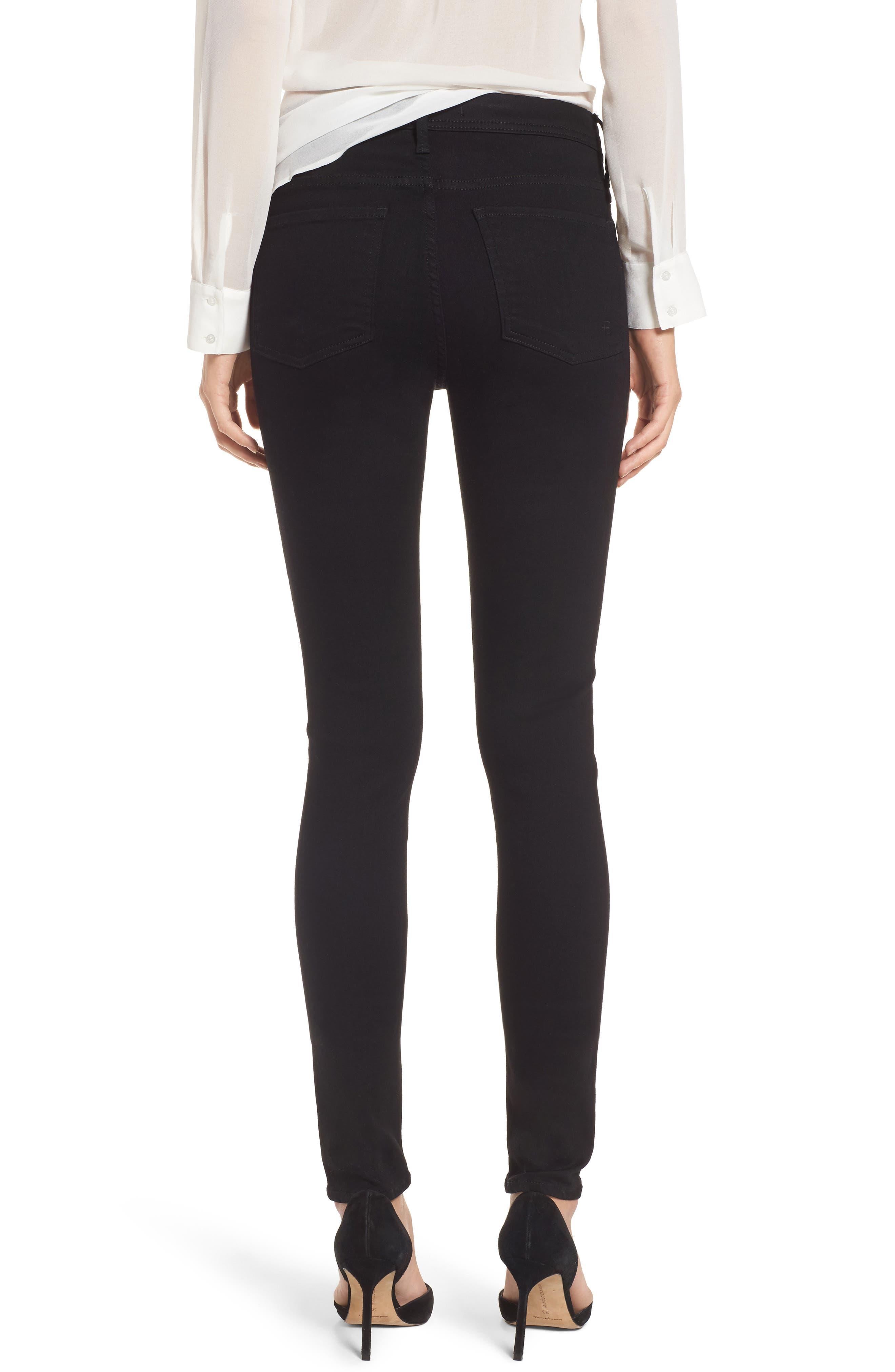 Belvedere Skinny Jeans,                             Alternate thumbnail 2, color,                             Jett Black