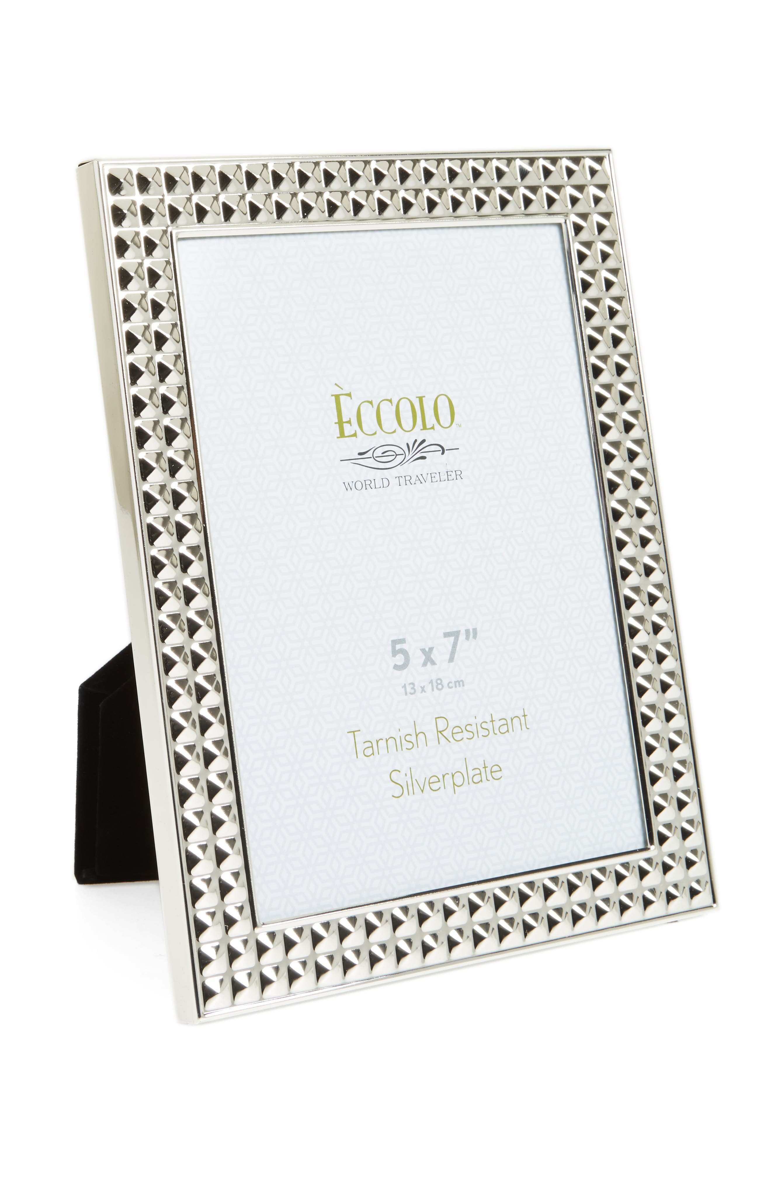 Pyramids Picture Frame,                         Main,                         color, Silver