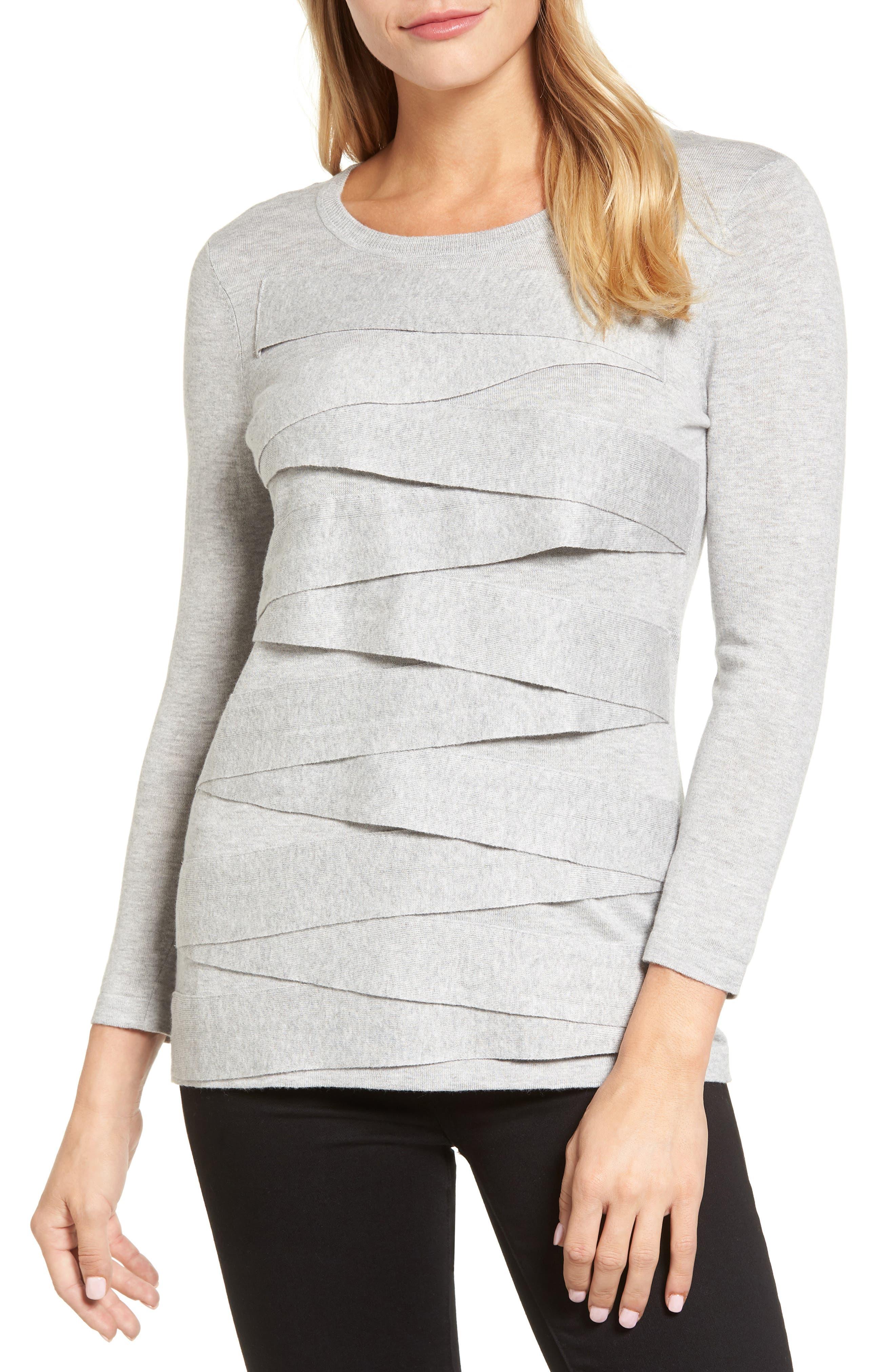 Zigzag Sweater,                         Main,                         color, Grey Heather
