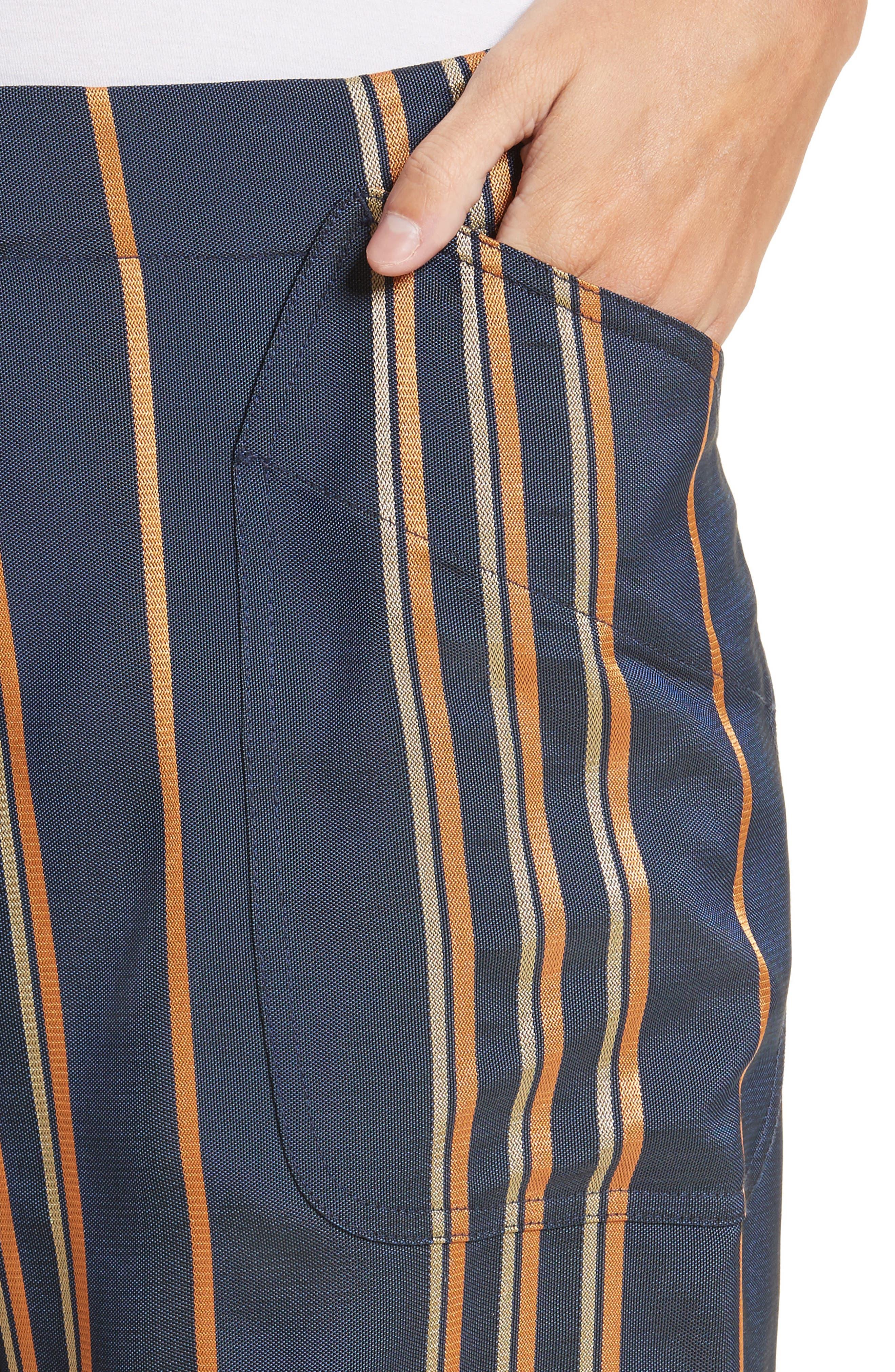 Stripe Pants,                             Alternate thumbnail 6, color,                             Mykonos/Papaya