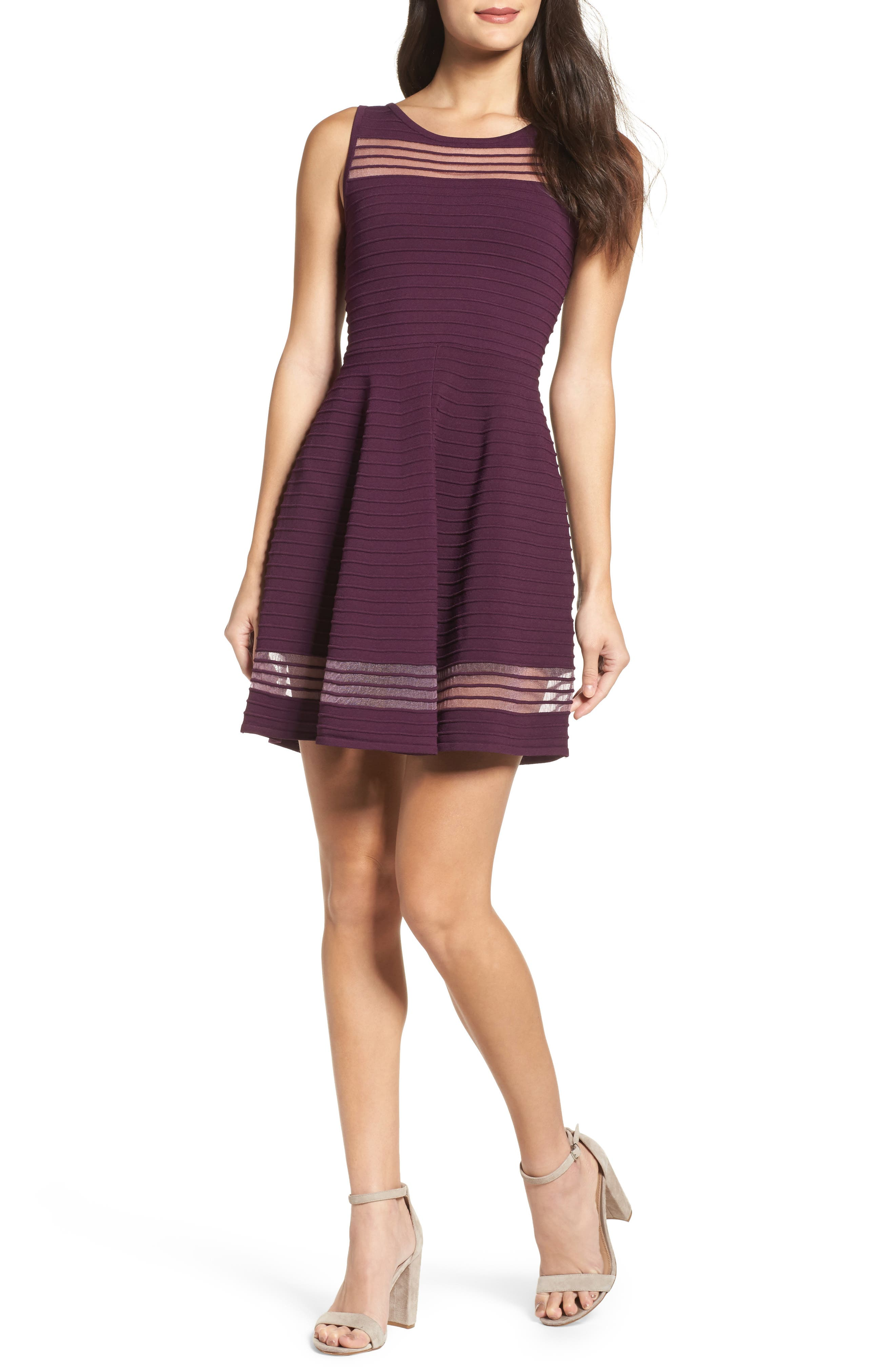 French Connection Tobey Fit & Flare Dress