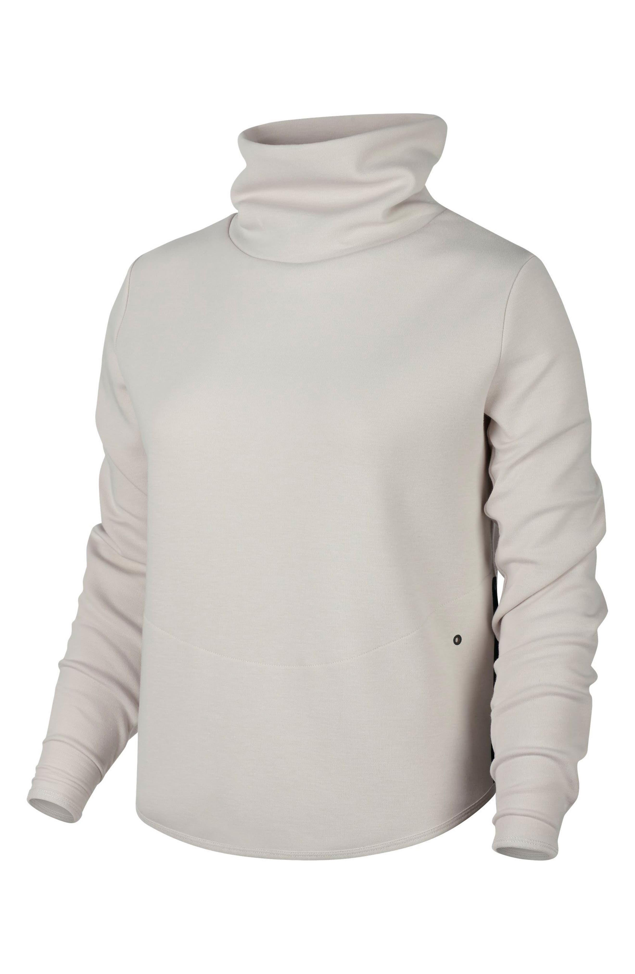 Women's Thermal Pullover Training Top,                         Main,                         color, Light Orewood Brown/ Black