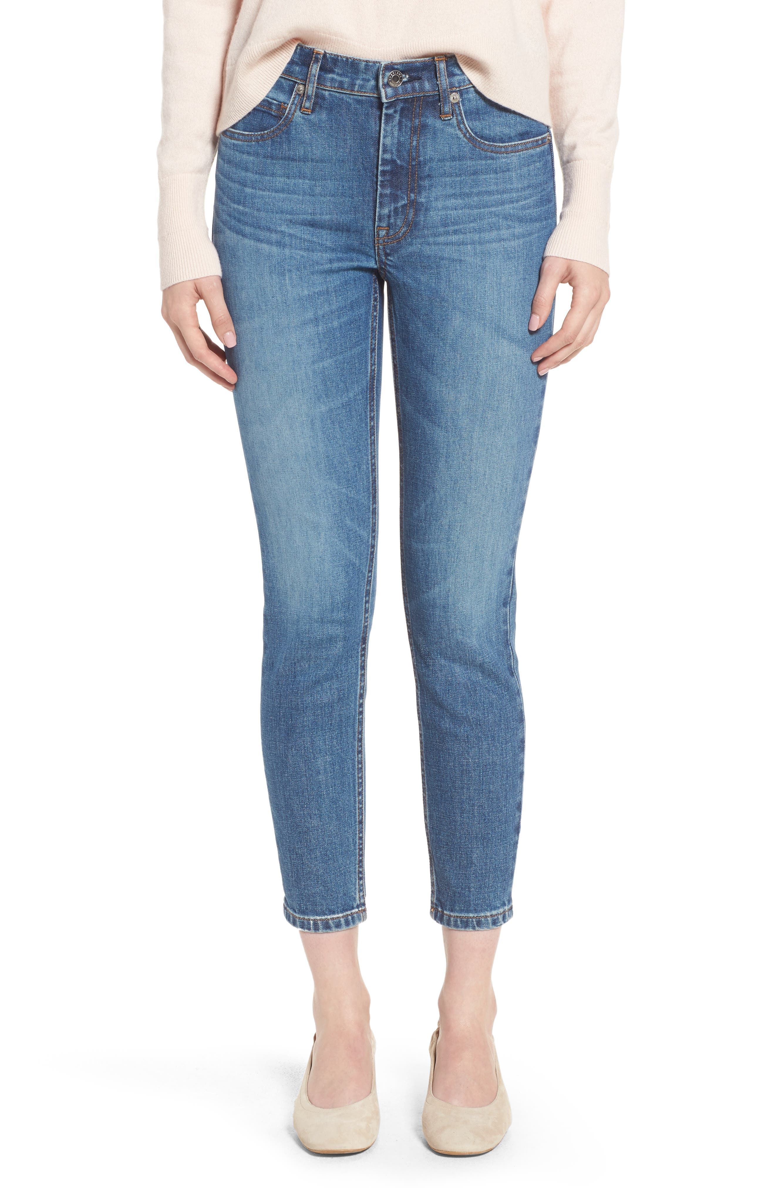 Everlane The Mid Rise Skinny Ankle Jeans
