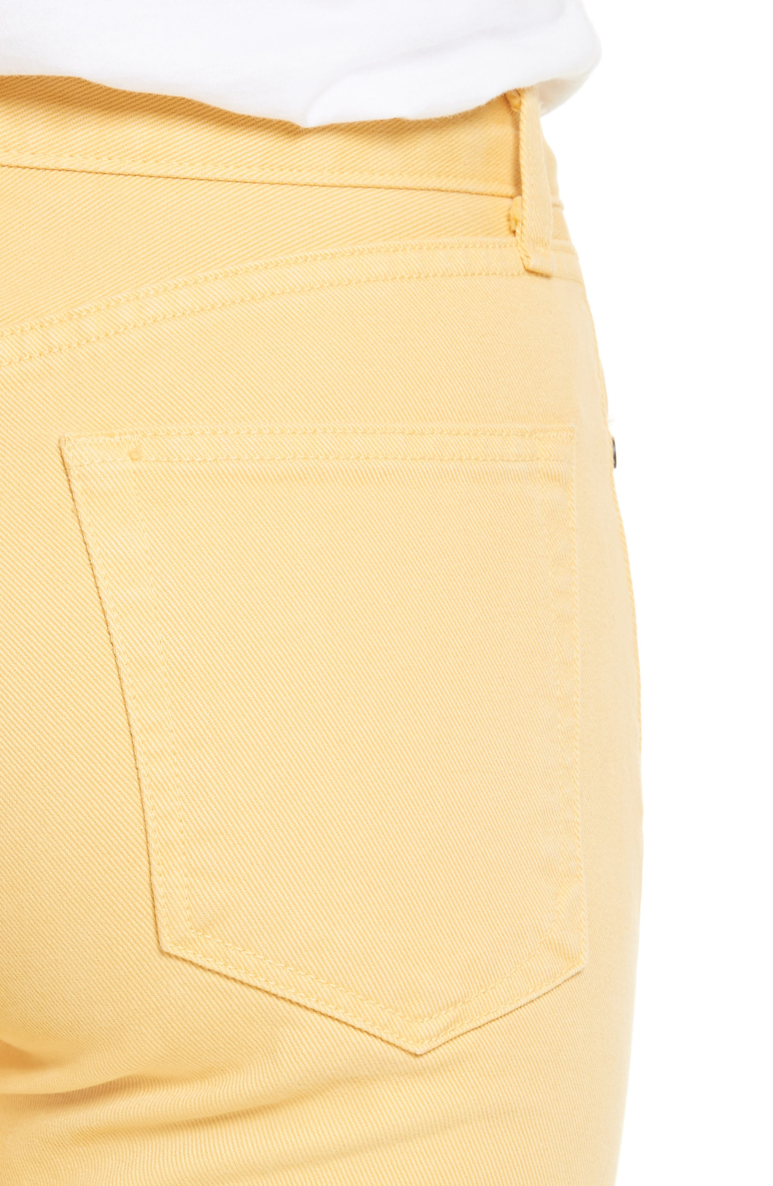 Alternate Image 4  - rag & bone/JEAN Straight Leg Crop Jeans (Sunrise)