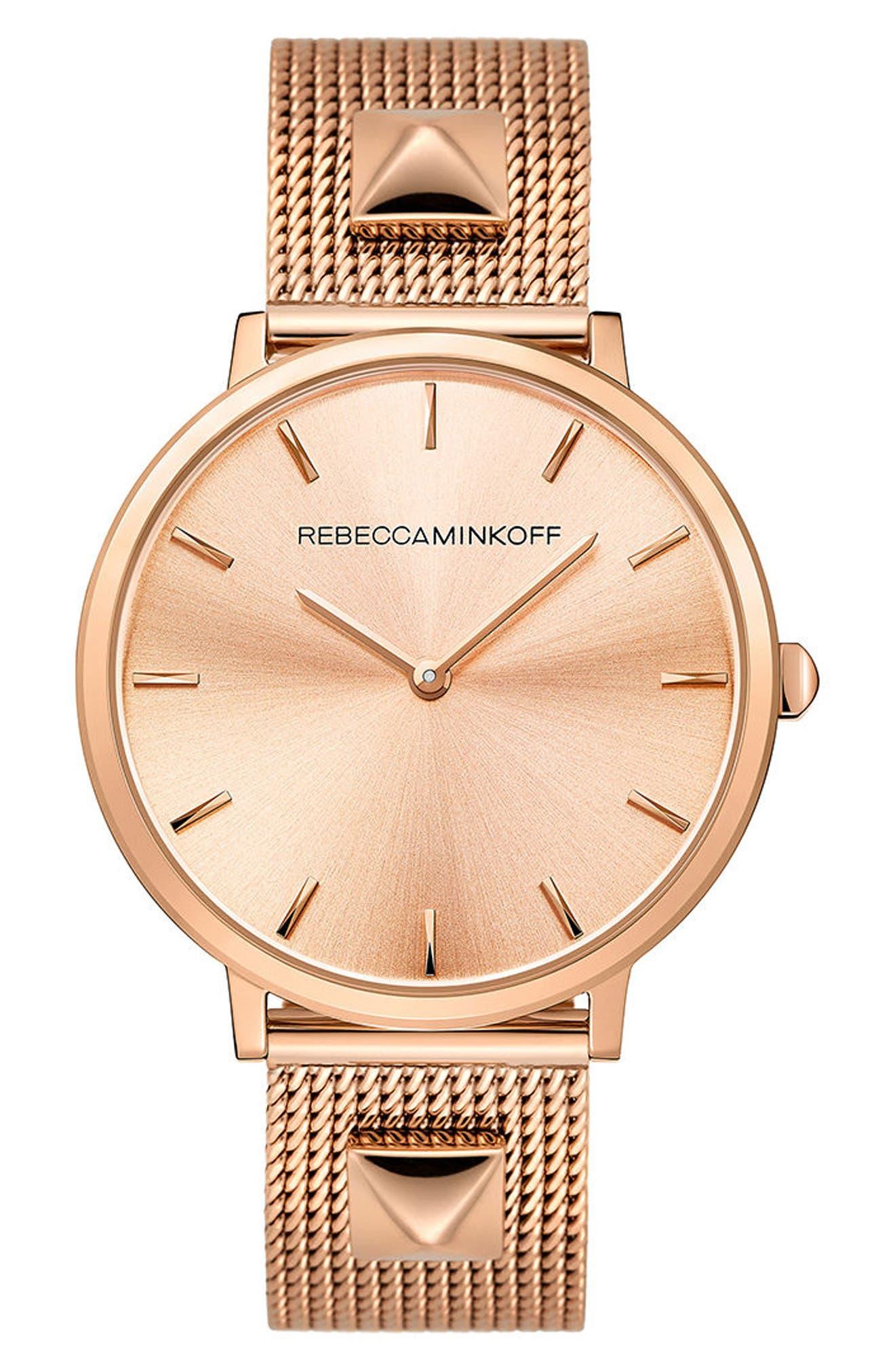 Main Image - Rebecca Minkoff Major Mesh Bracelet Watch, 35mm
