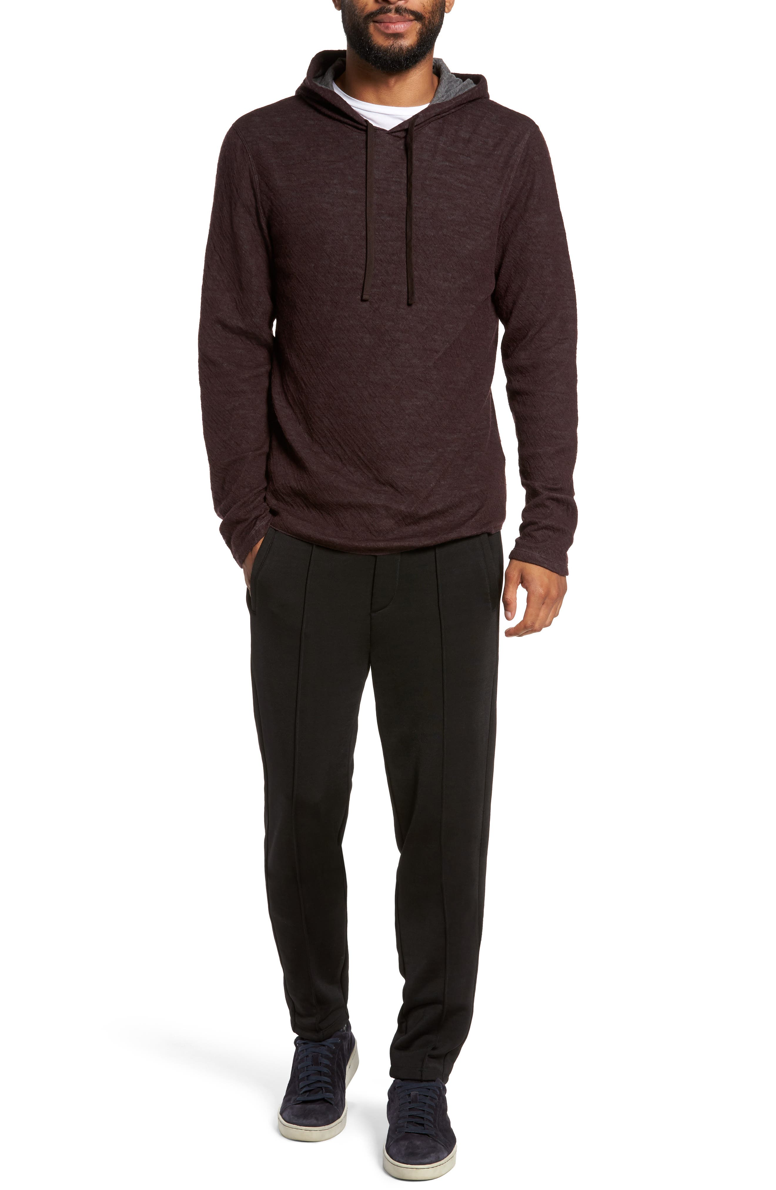 Alternate Image 7  - Vince Contrast Double Knit Cotton & Wool Hoodie
