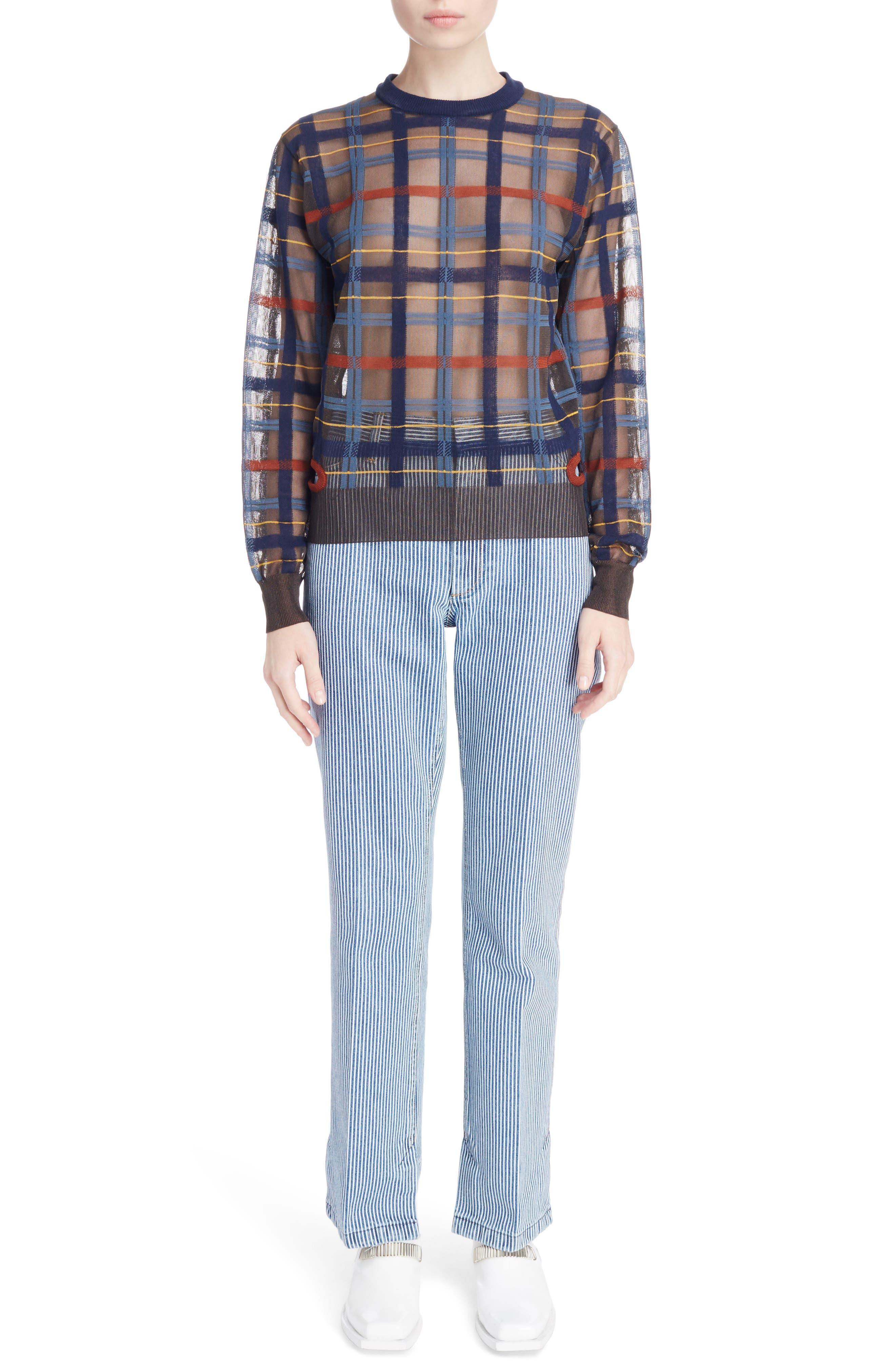 Alternate Image 6  - Toga Check Knit Sweater